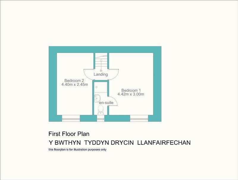Y bwthyn tyddyn drycin llanfairfechan layout2