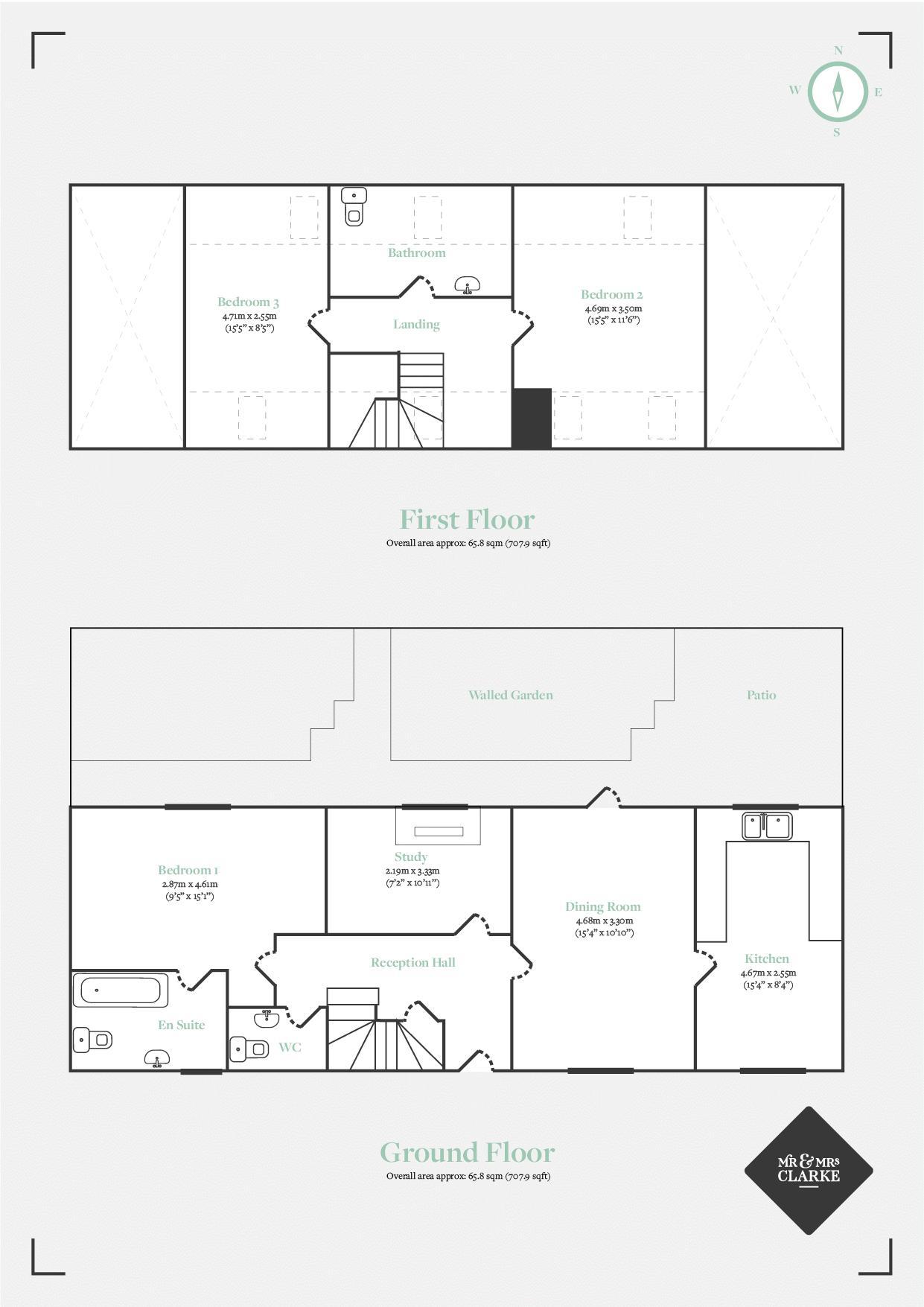 Gorcott Hill, Beoley. Floorplan. First Second Floor Plan.