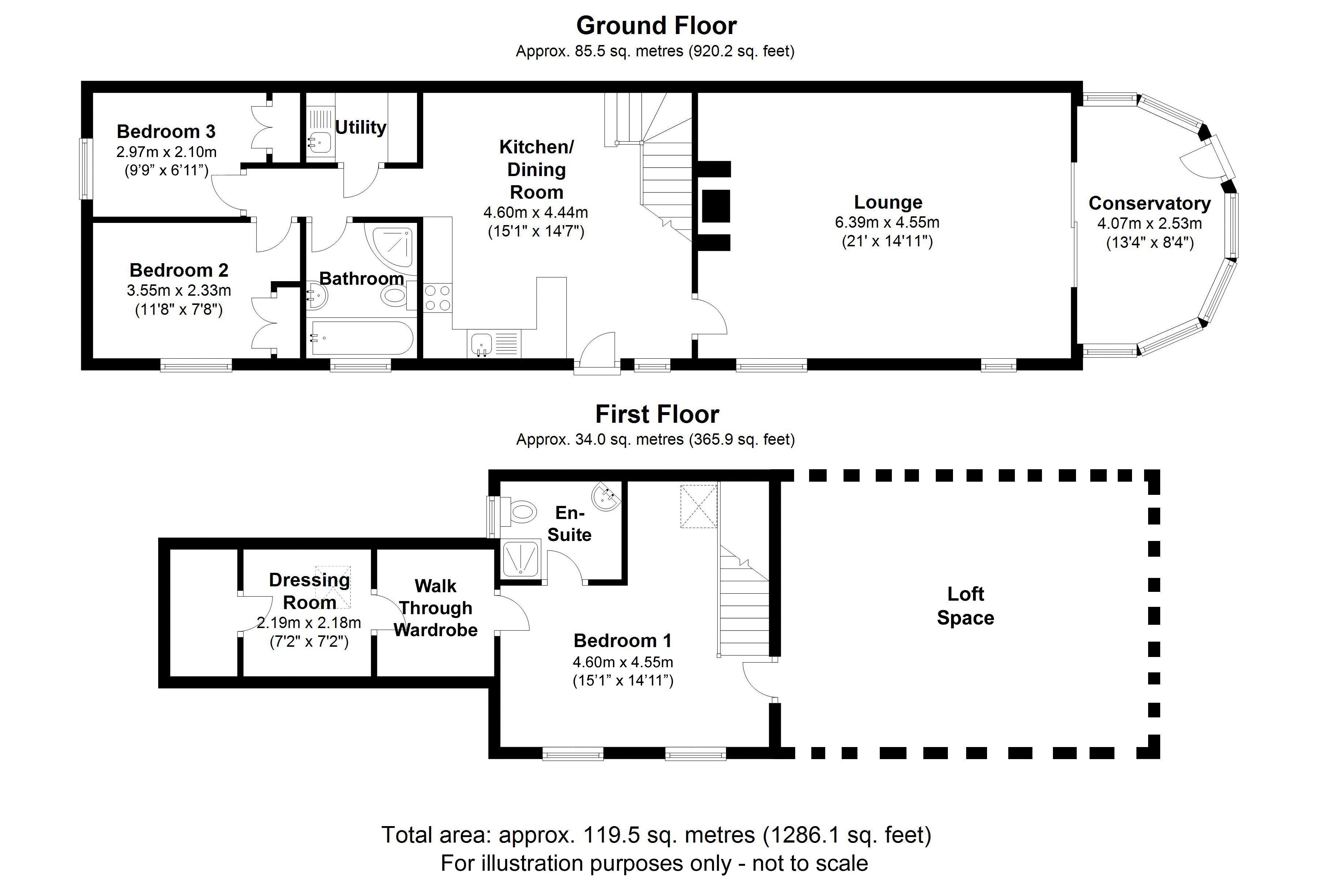 The Granary, Beoley. Floorplan. .