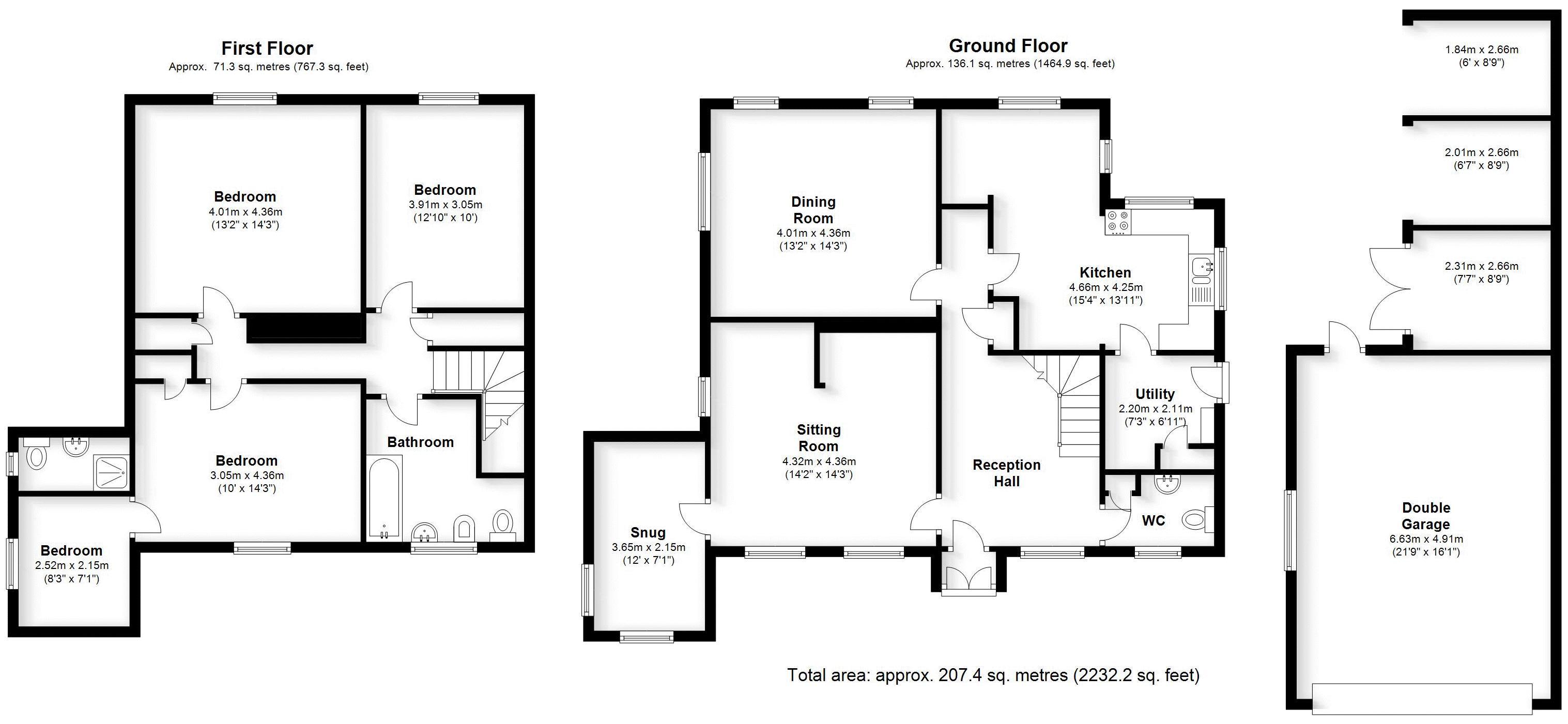 Mill Lane, Rowington. Floorplan. .