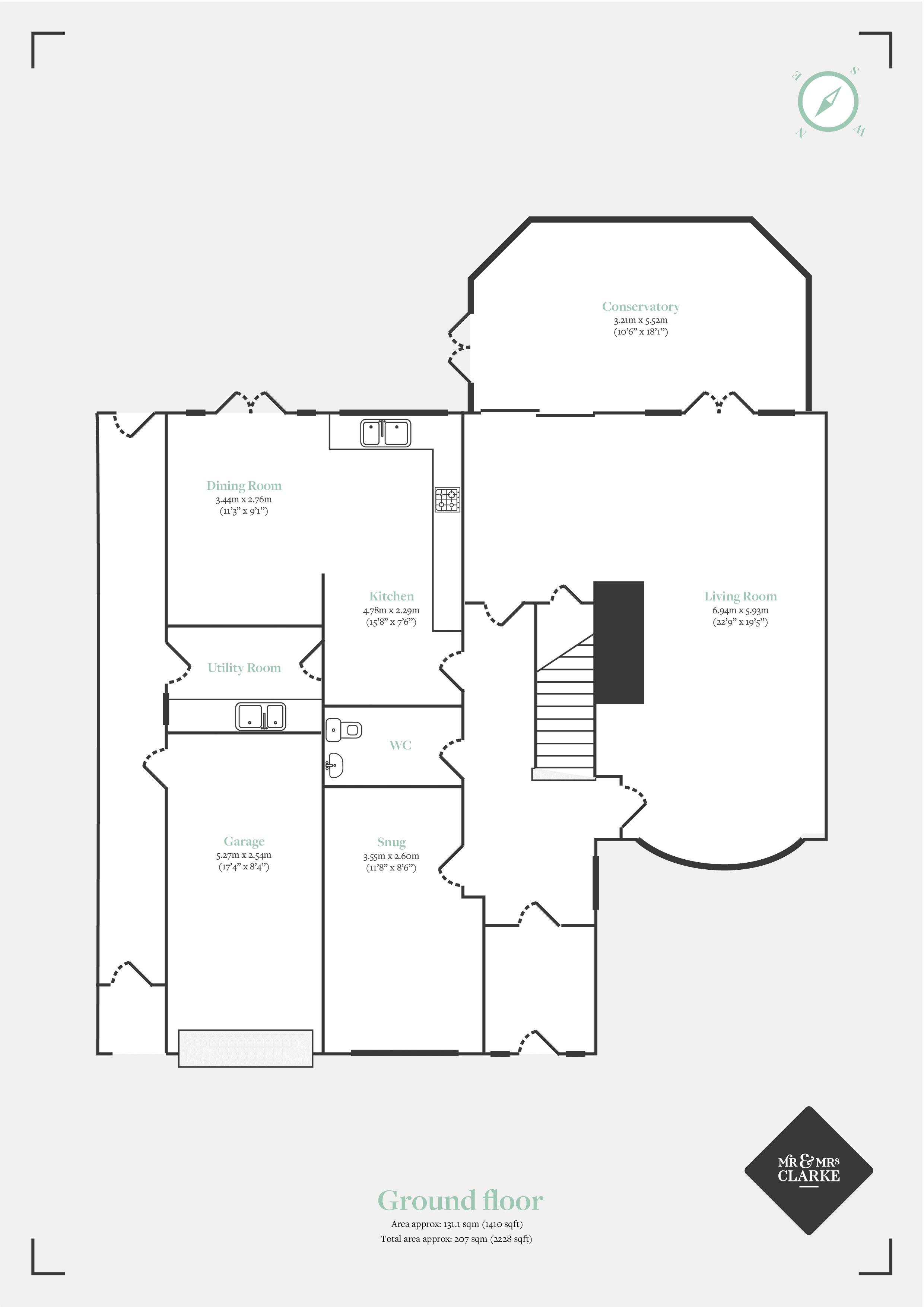 Lightwood Close, Knowle. Floorplan. Ground Floor Plan.