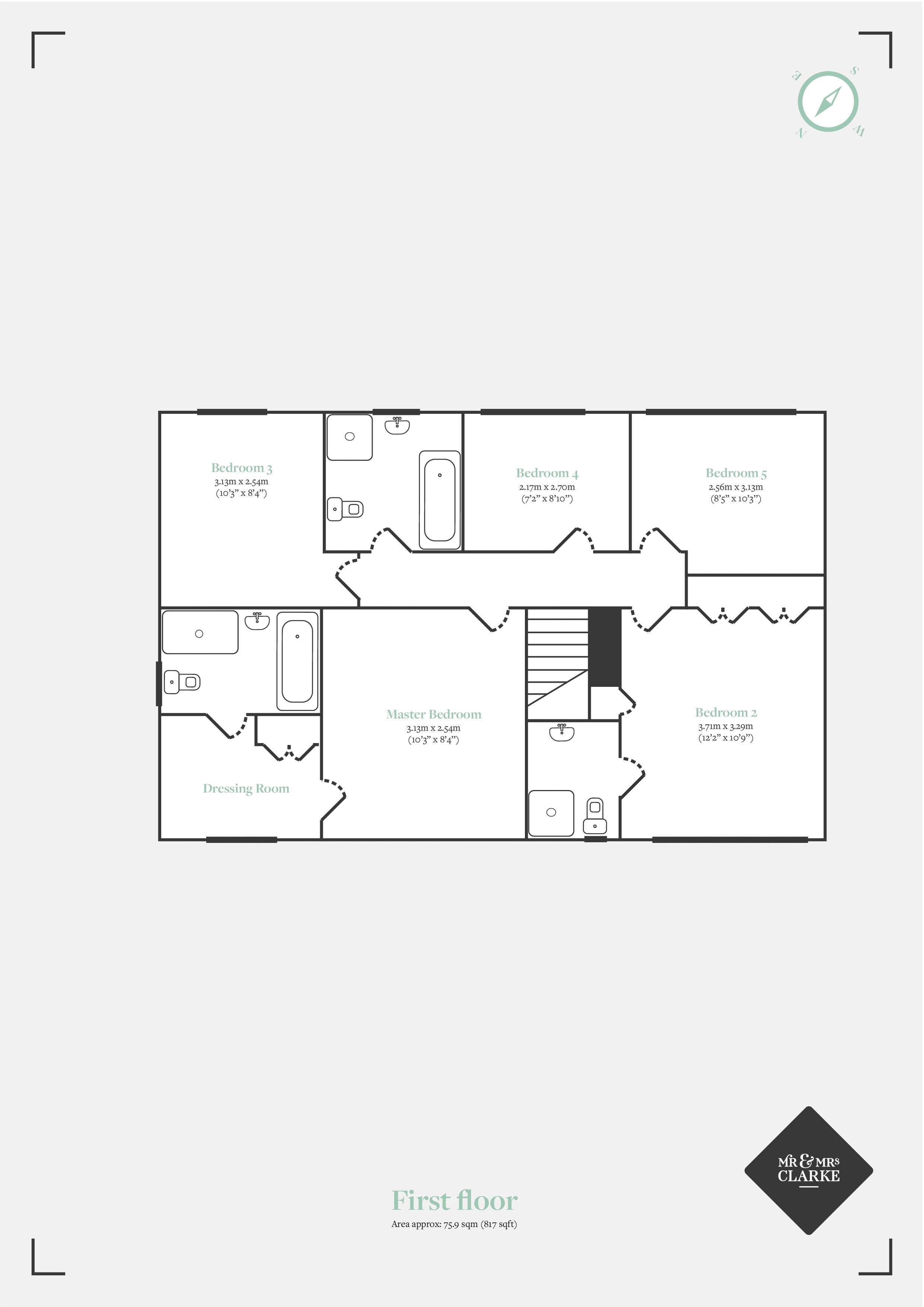 Lightwood Close, Knowle. Floorplan. First Floor Plan.