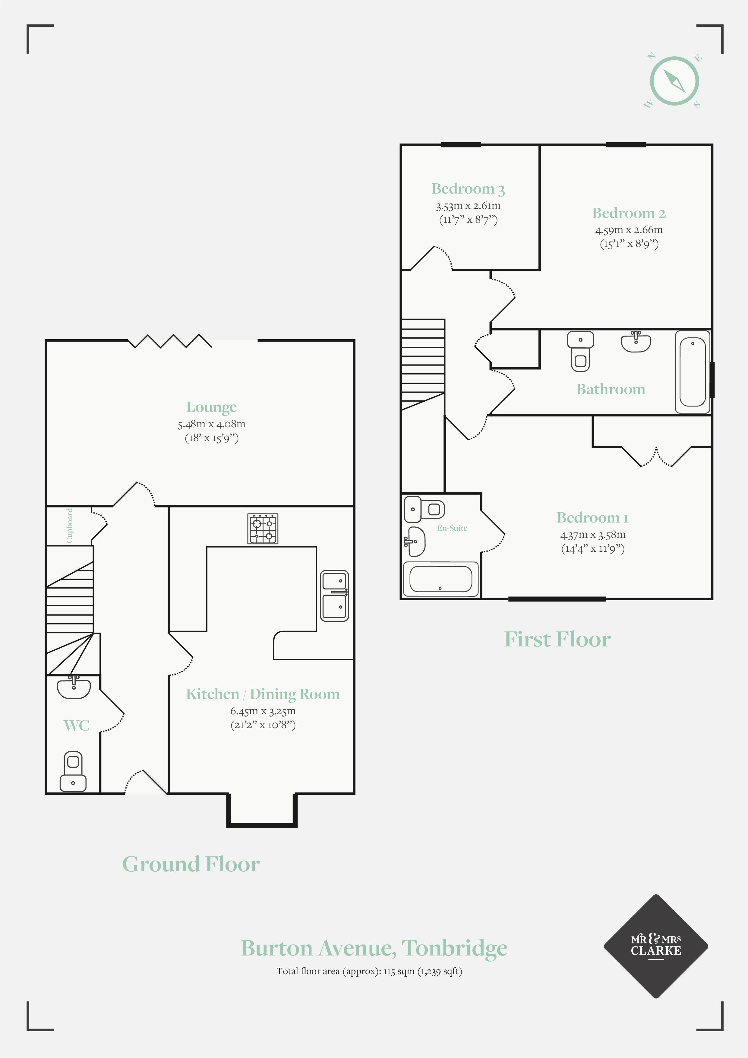 Burton Avenue, Leigh. Floorplan. Floor Plan.