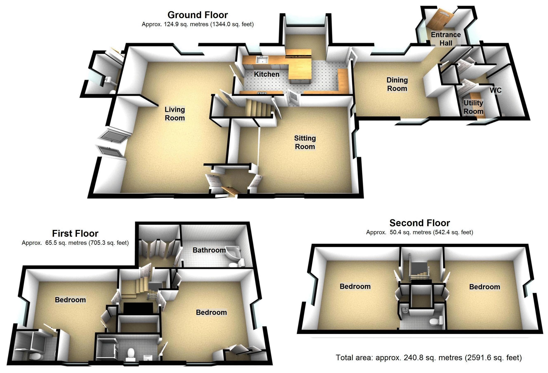 Frogmore, Fen End. Floorplan. .