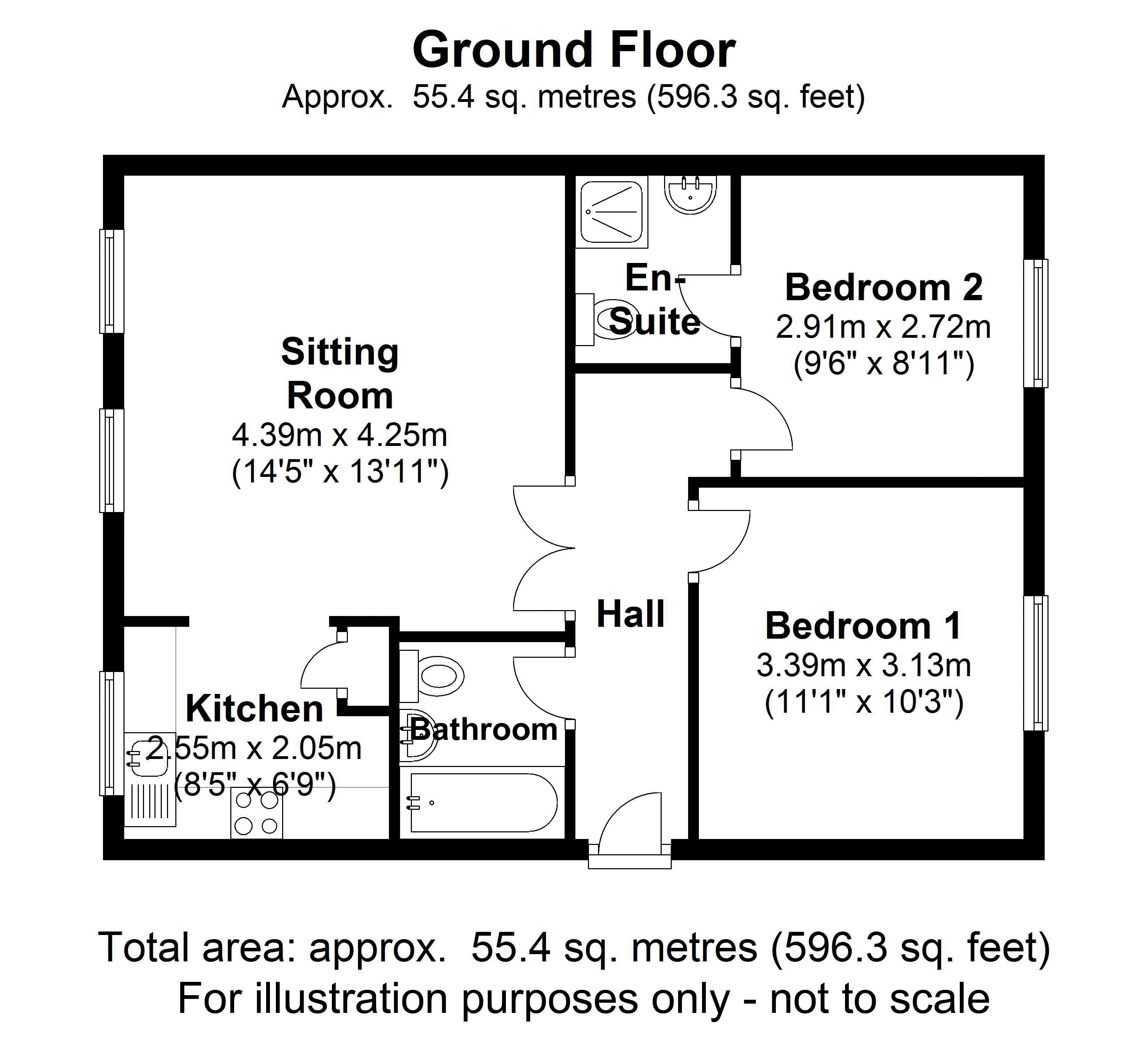 Apartment 18, Kenilworth Hall. Floorplan. .