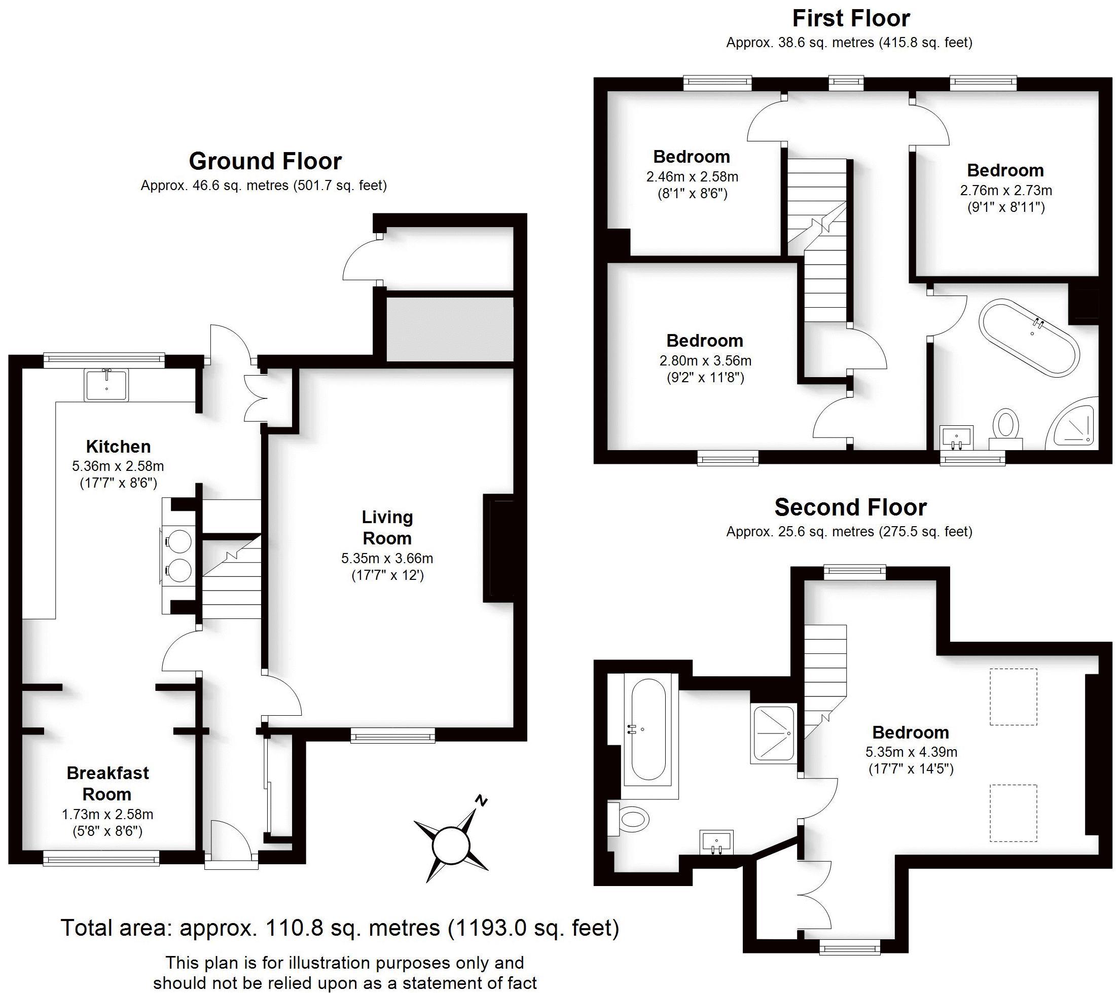 March Cottage, Warwick. Floorplan. March Cottage, Warwick.