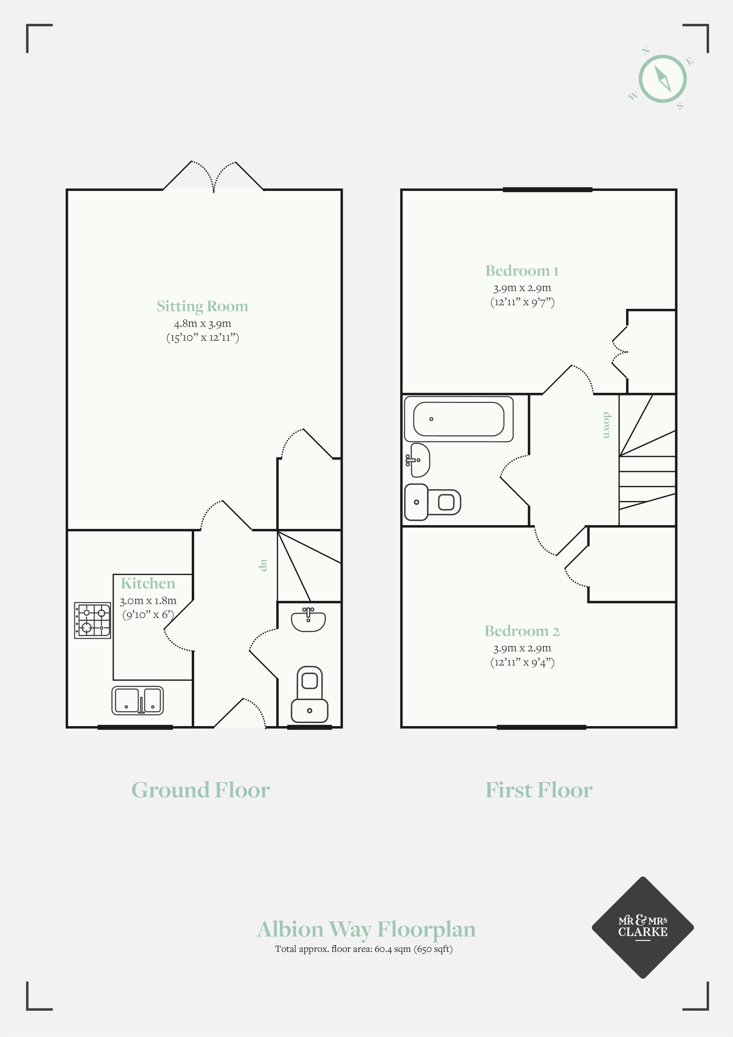 Albion Way, Edenbridge. Floorplan. Floor Plan.