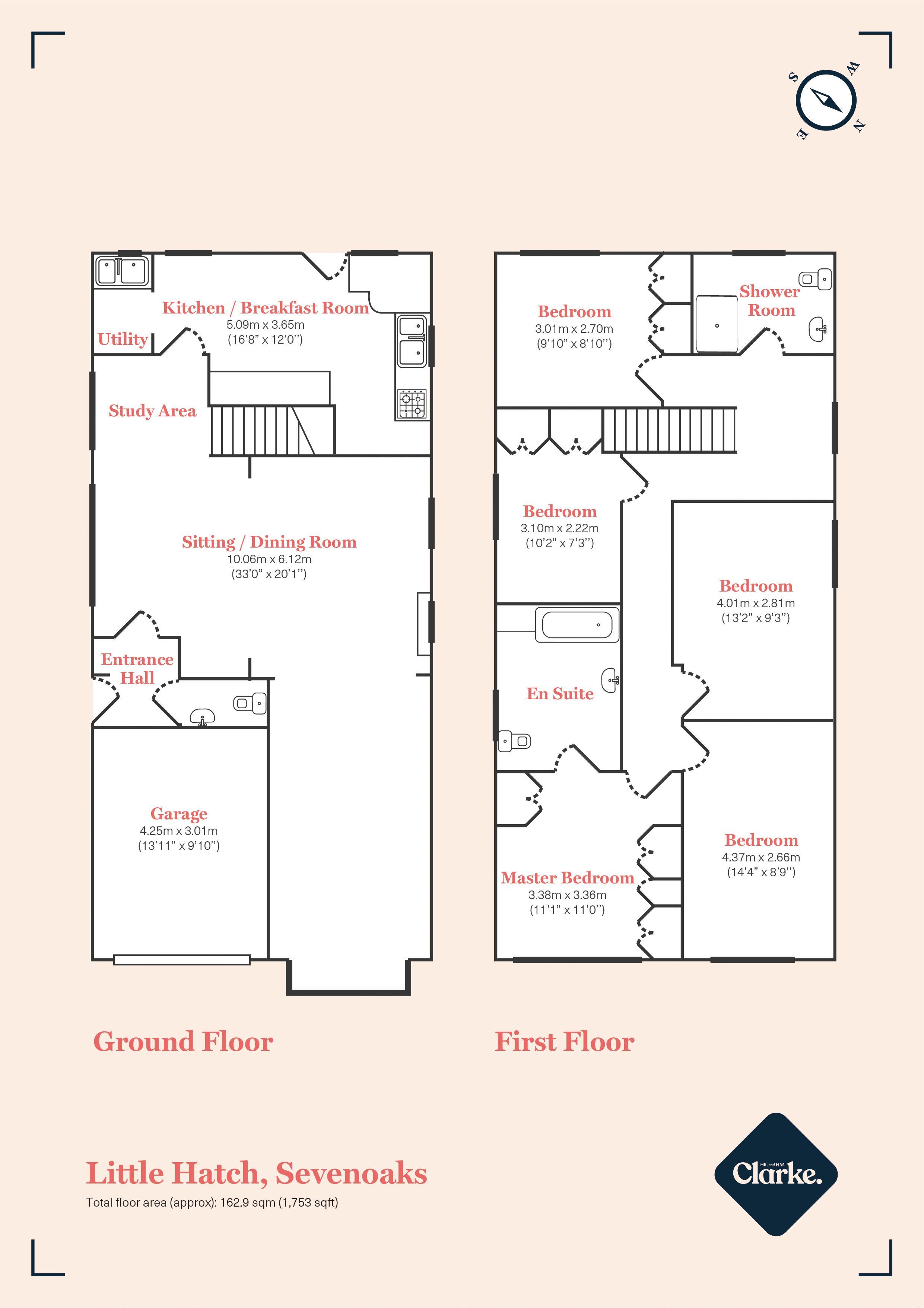 Main Road, Sevenoaks. Floorplan. Floor Plan.