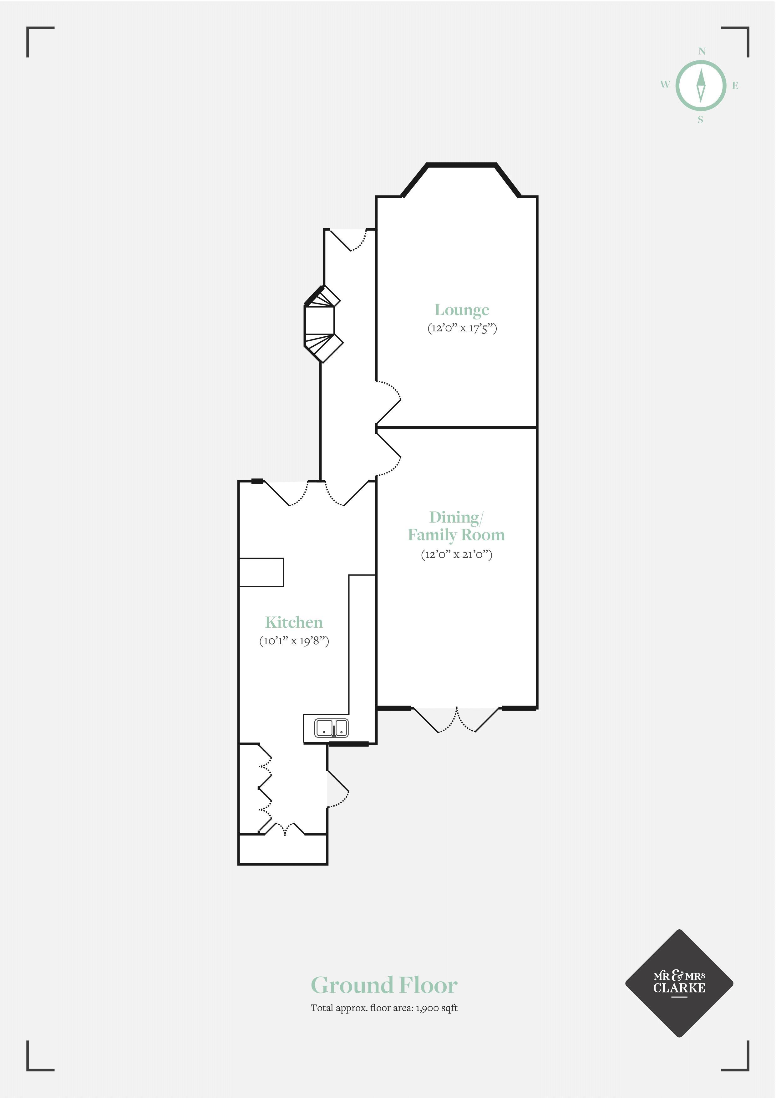 Manor Grove, Tonbridge. Floorplan. Ground Floor Plan.
