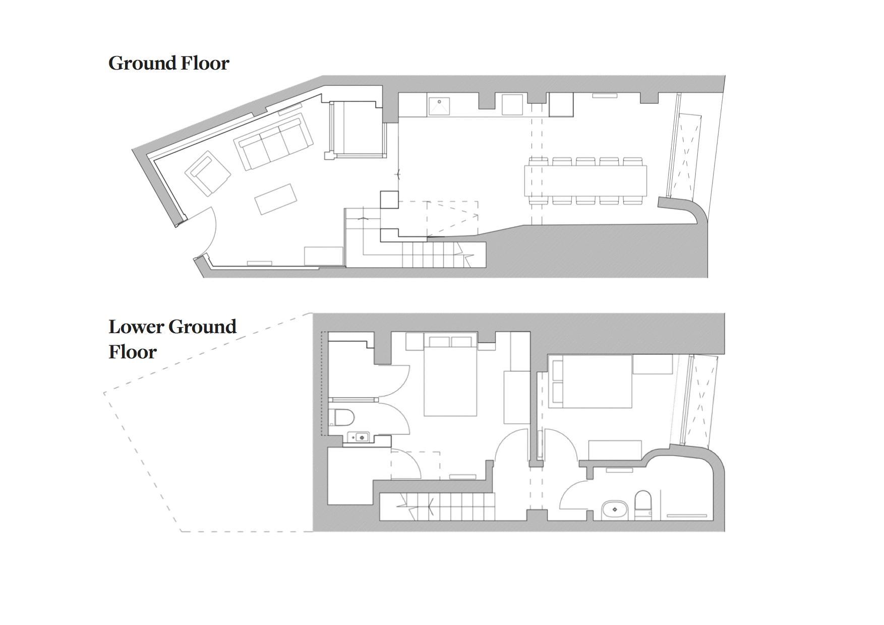 Northampton Grove, Canonbury. Floorplan. .