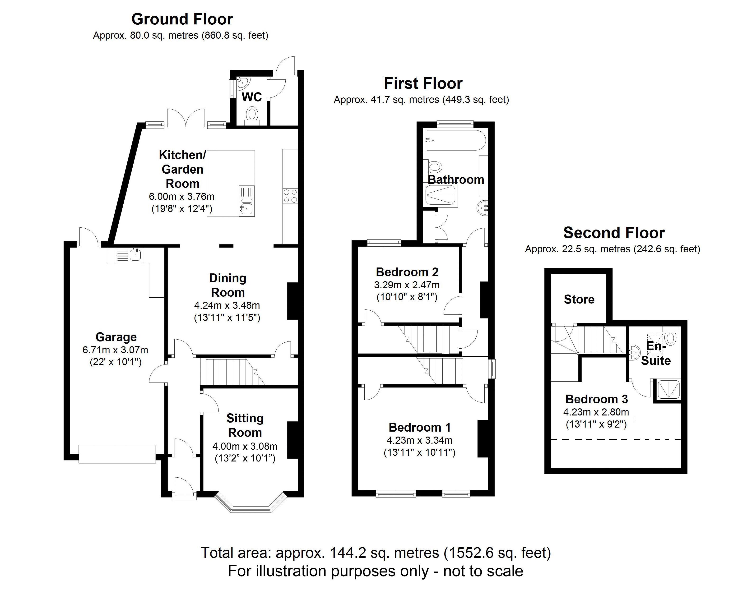 Damson Cottage, Knowle. Floorplan. Floorplan.