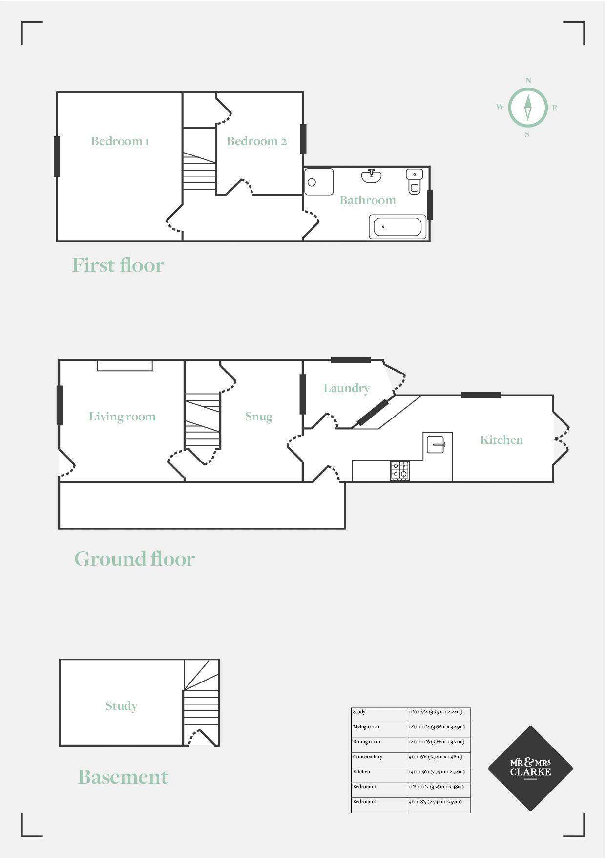 Great William Street, Stratford-Upon-Avon. Floorplan. Floor Plans.