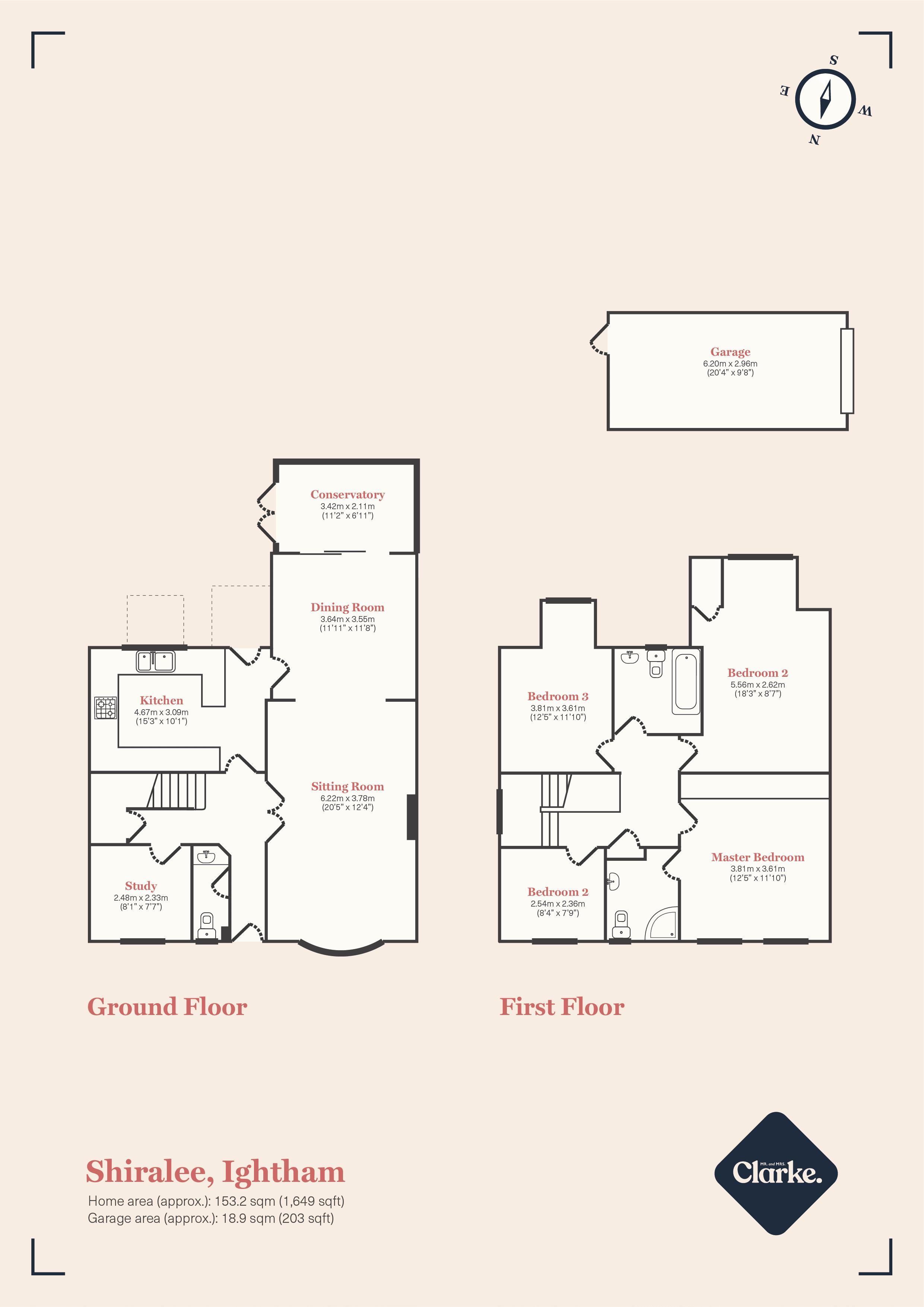 Trycewell Lane, Ightham. Floorplan. Floor Plan.