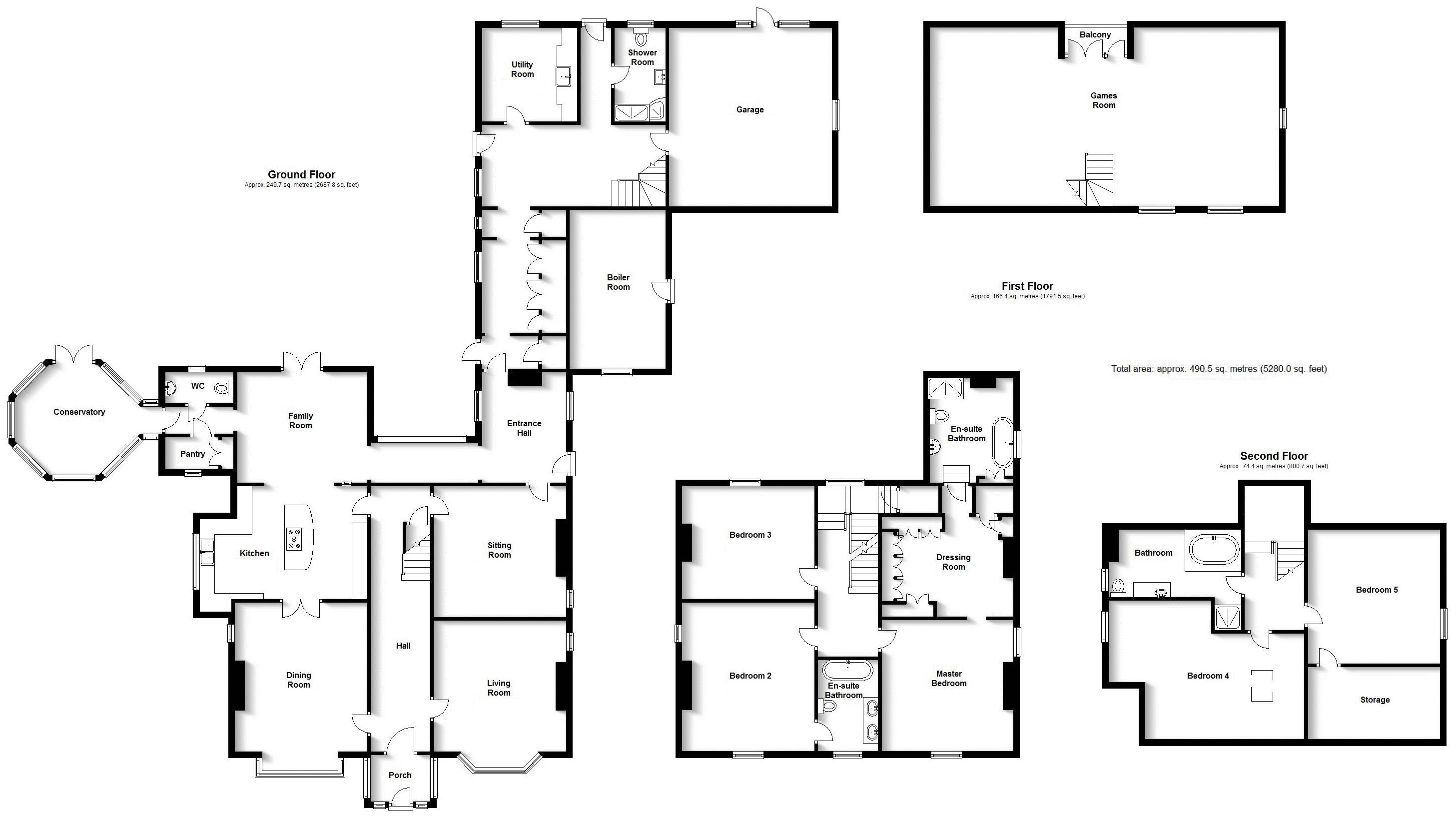 The Lodge, Stoke Golding. Floorplan. .
