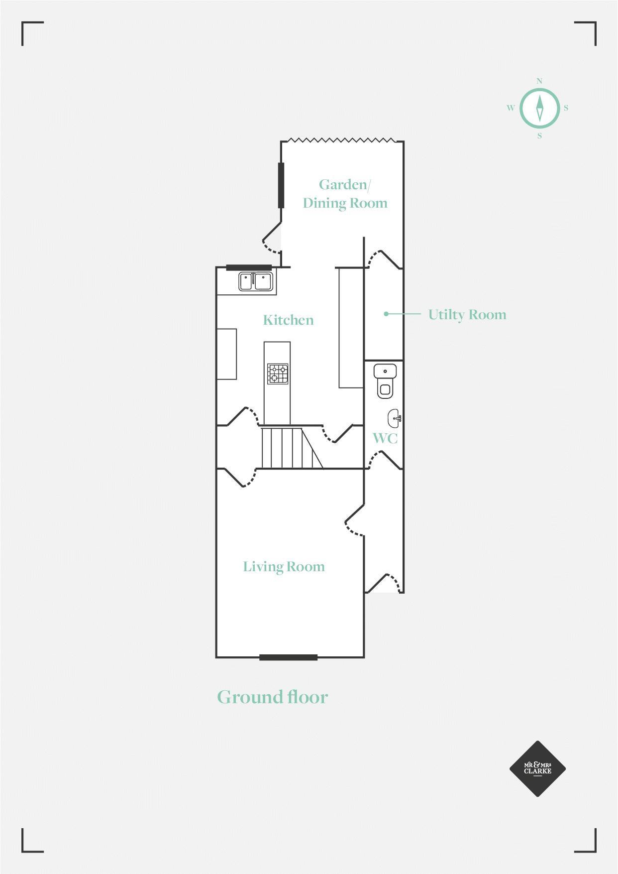 Campion Terrace, Leamington Spa. Floorplan. Ground Floor Plan.