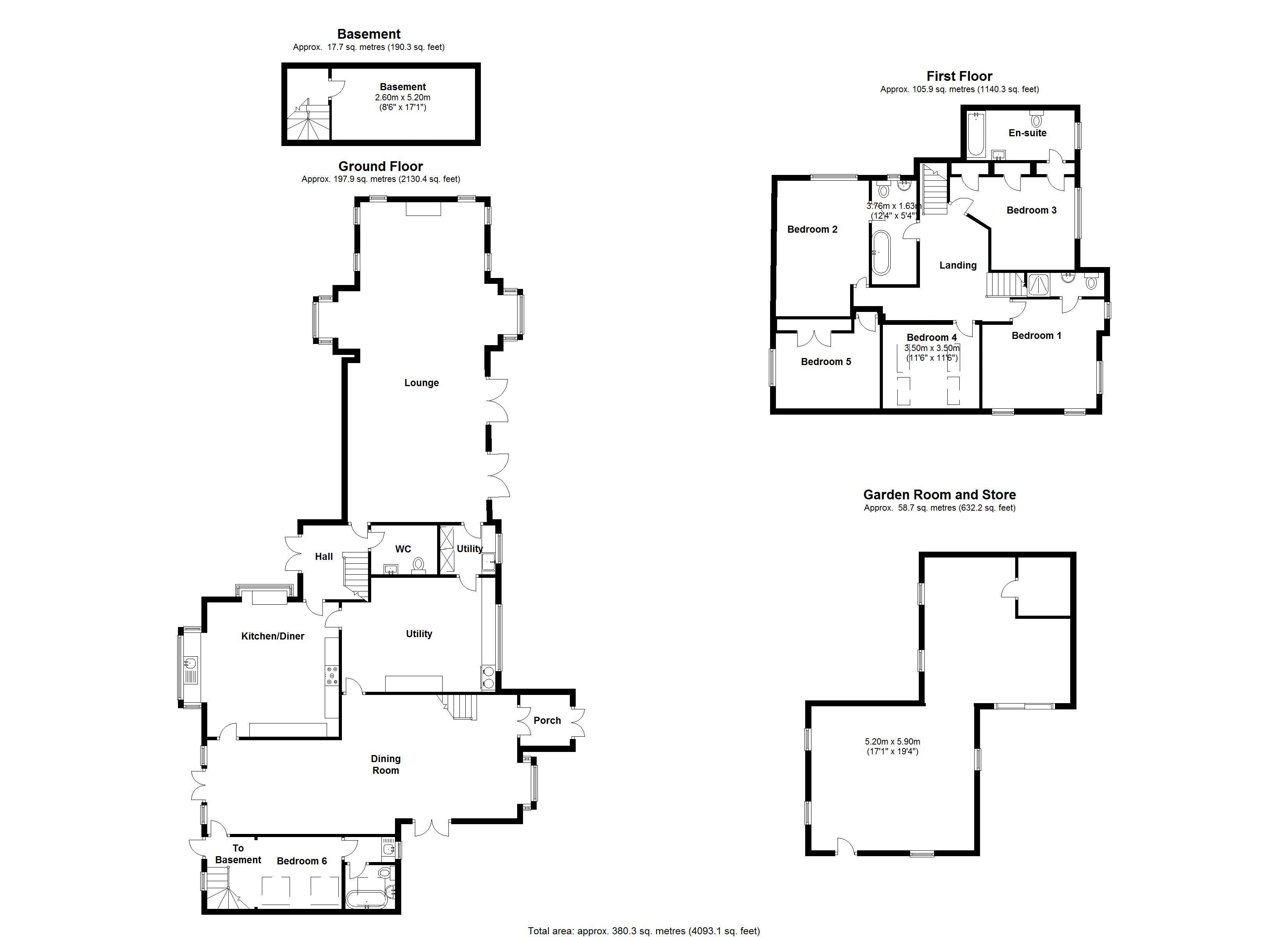 The Elephant & Castle, Rowington. Floorplan. .