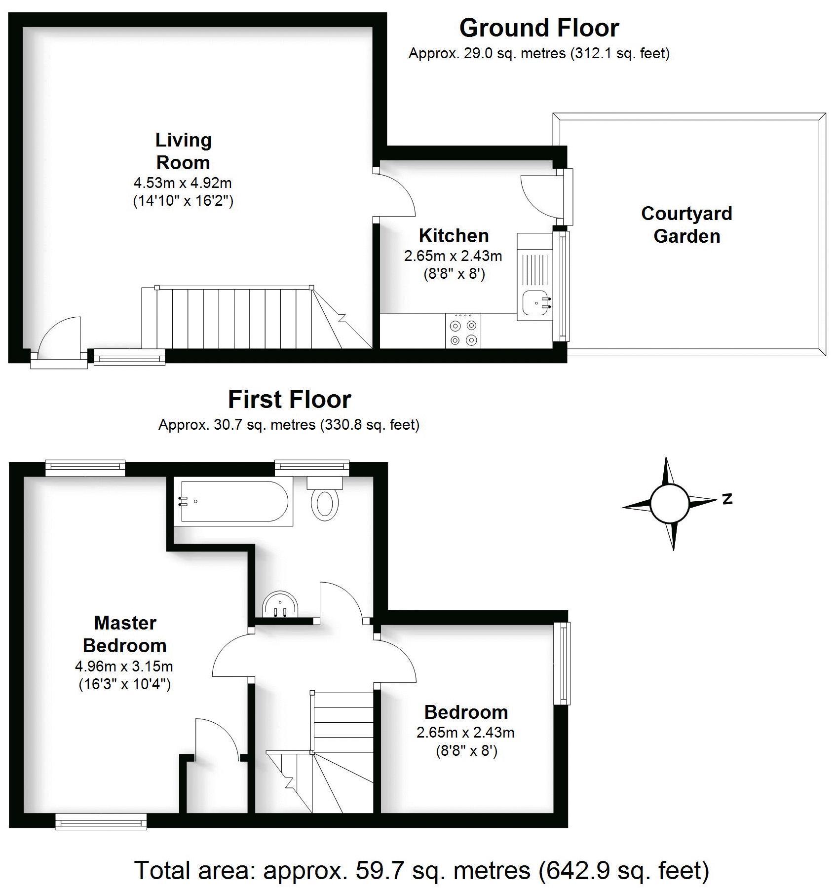 Kenilworth Hall Mews, Kenilworth. Floorplan. .