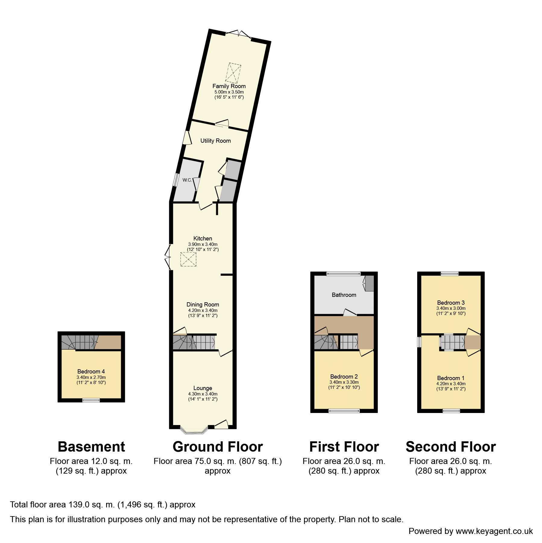 Mill Lane, Bentley Heath. Floorplan. 143 Mill Lane Floorplan.
