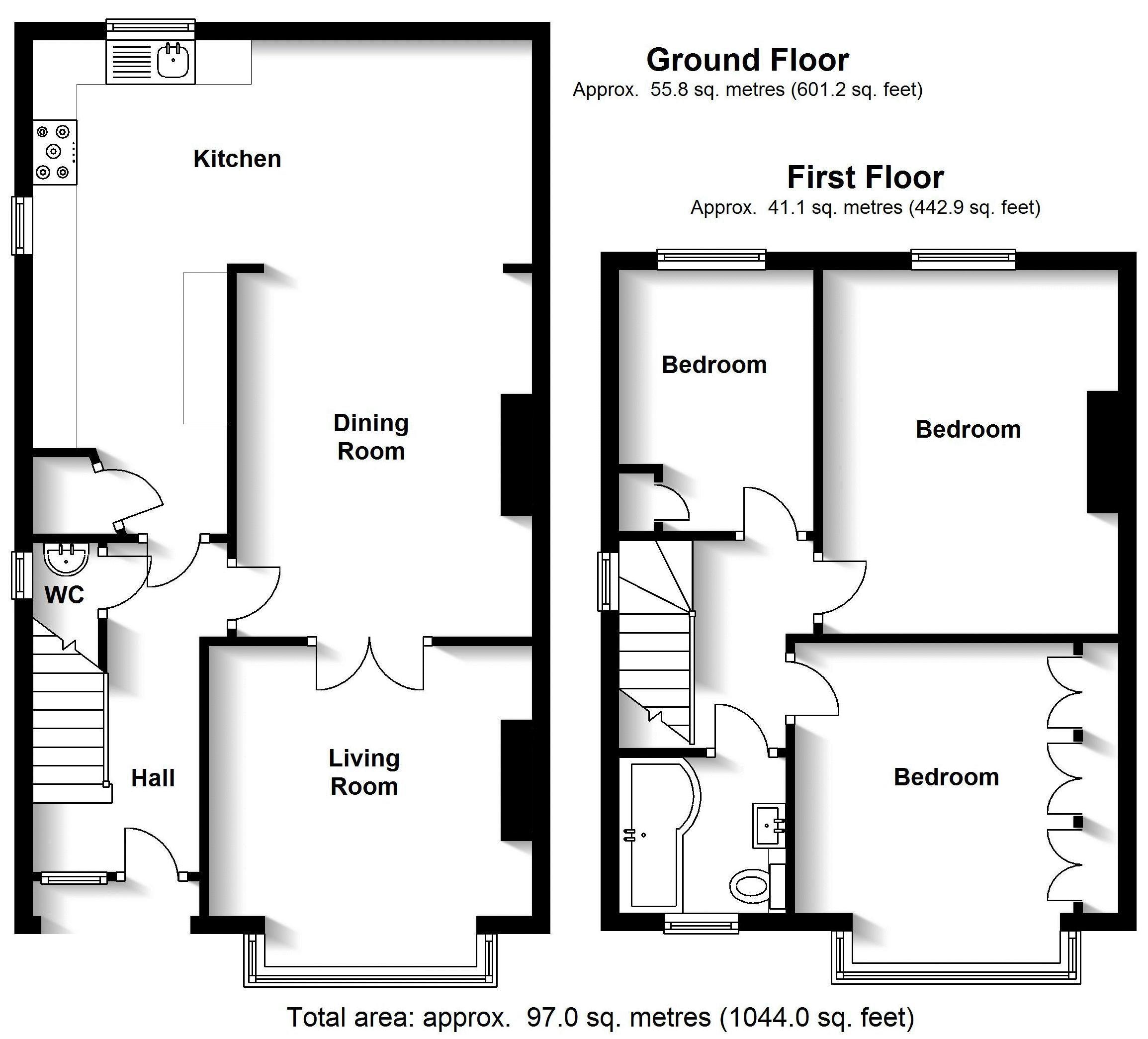 Campion Green, Leamington Spa. Floorplan. .