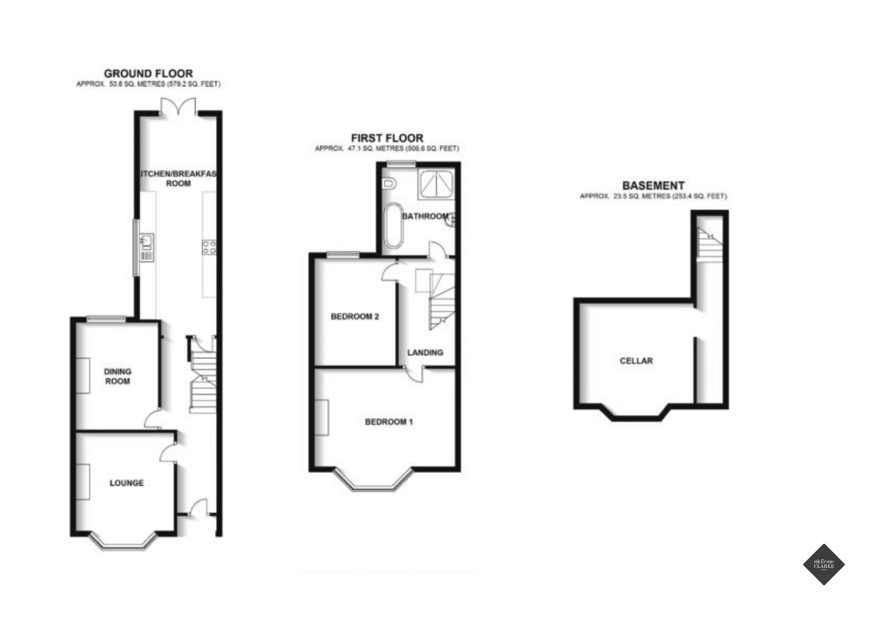 Plymouth Place, Leamington Spa. Floorplan. .