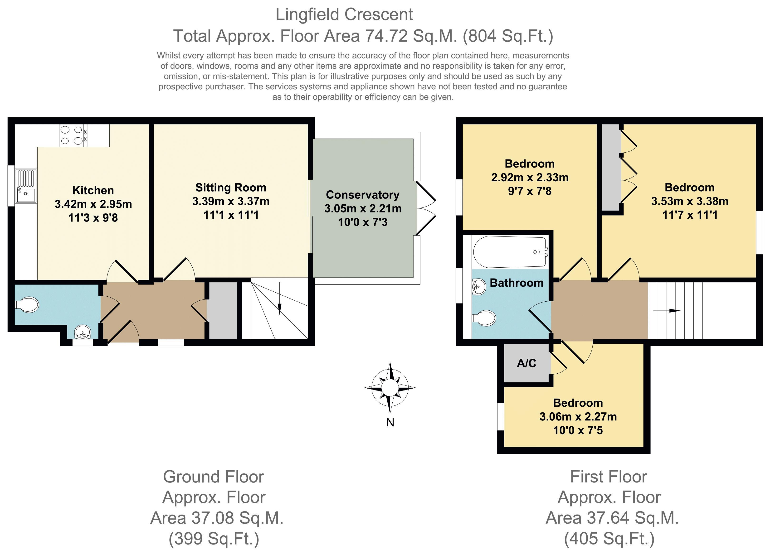 Lingfield Crescent, Stratford-Upon-Avon. Floorplan. .