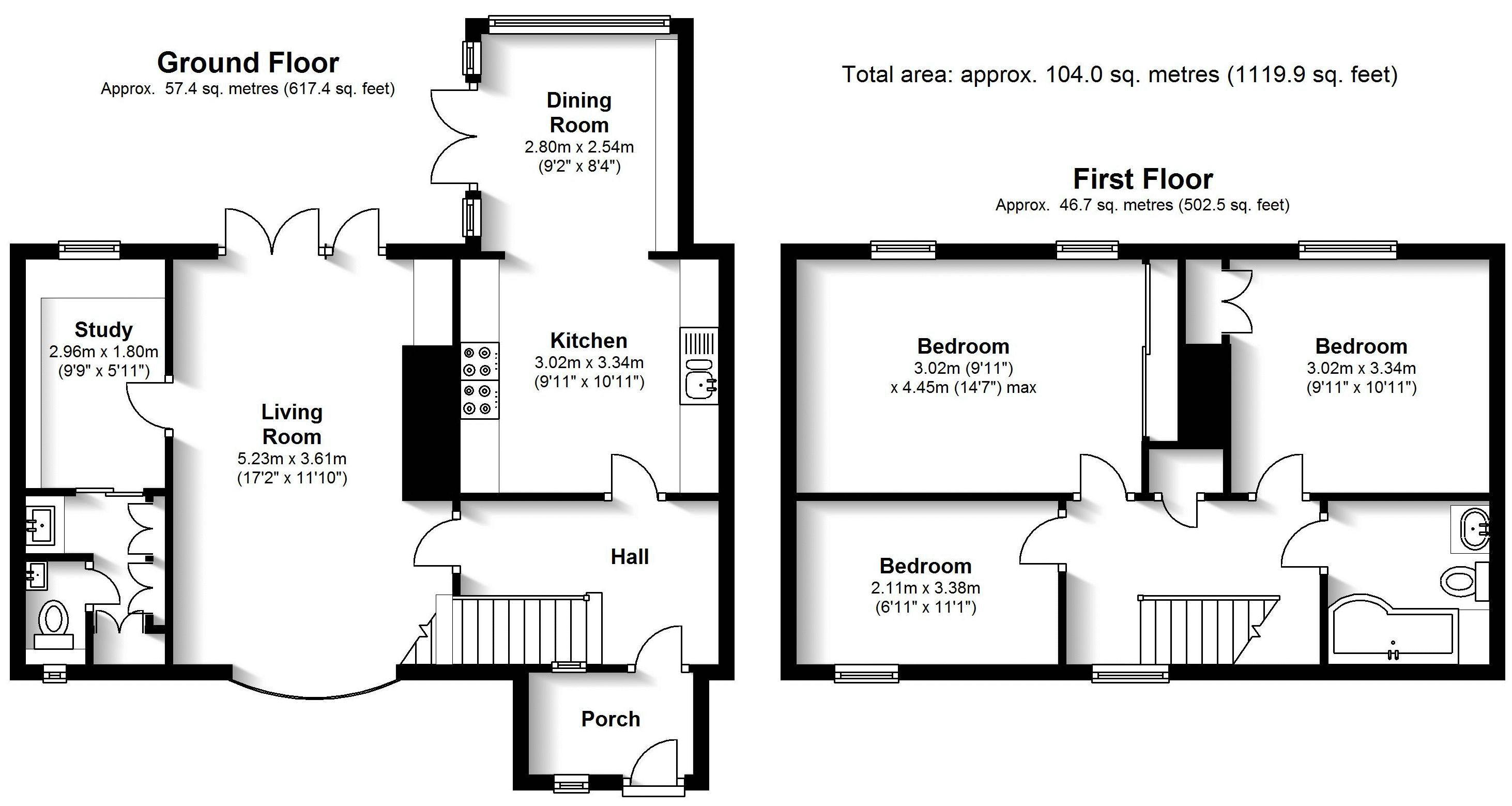 Bellfield, Tanworth in Arden. Floorplan. .