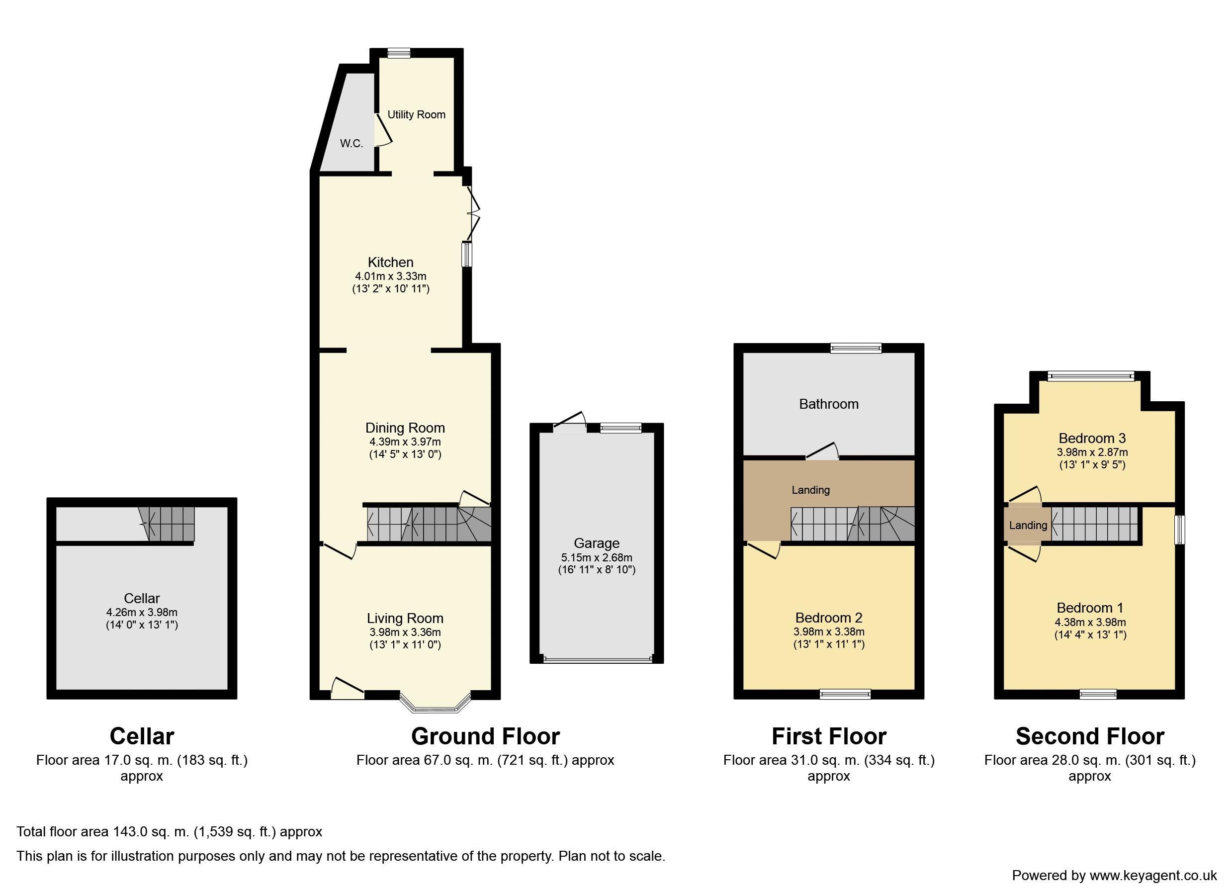 Mill Lane, Bentley Heath. Floorplan. 145 Mill Lane Floorplan.