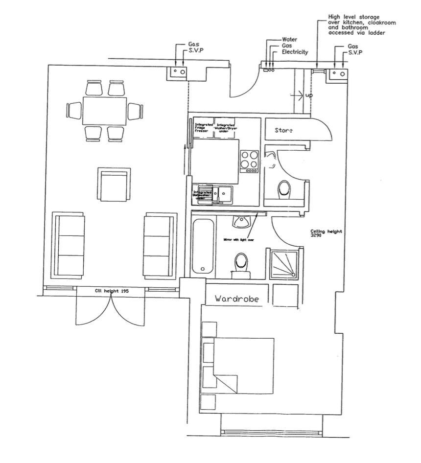 Loft Apartment, Jewellery Quarter. Floorplan. .