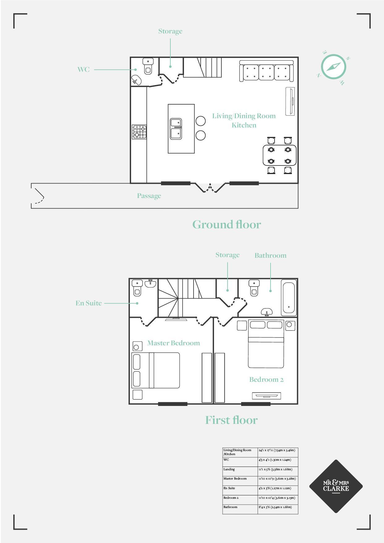 Scotgate, Stamford. Floorplan. Ground & First Floor.