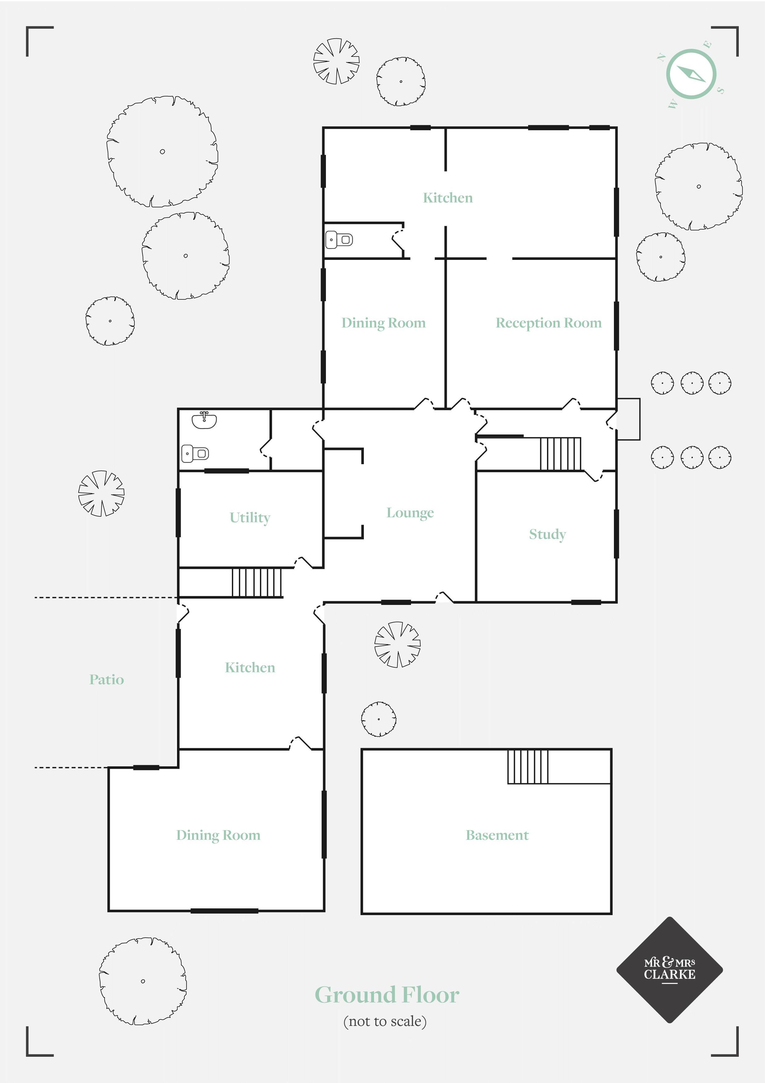 The Farmhouse, Mousley End. Floorplan. Ground Floor Plan.
