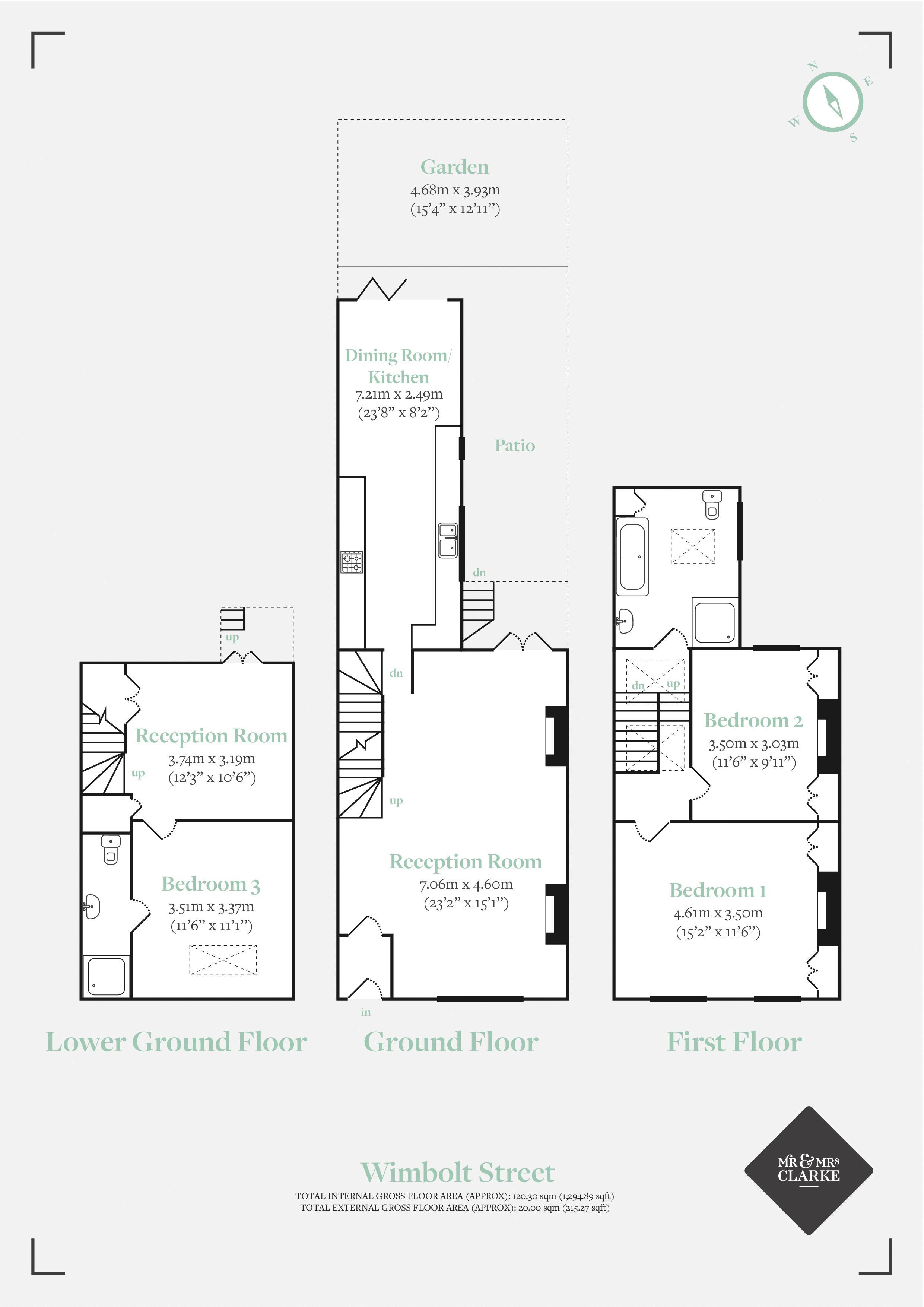 Wimbolt Street, London. Floorplan. Floor Plan.