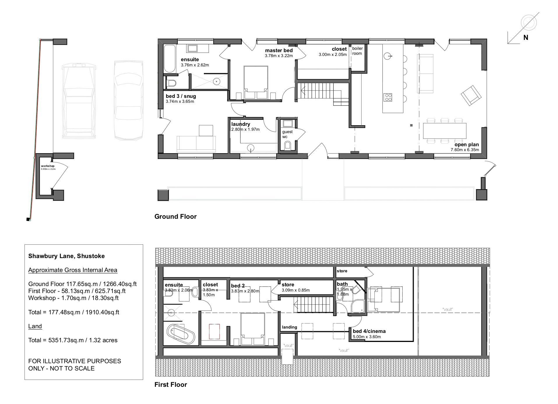 The Old Brick House, Shustoke. Floorplan. .