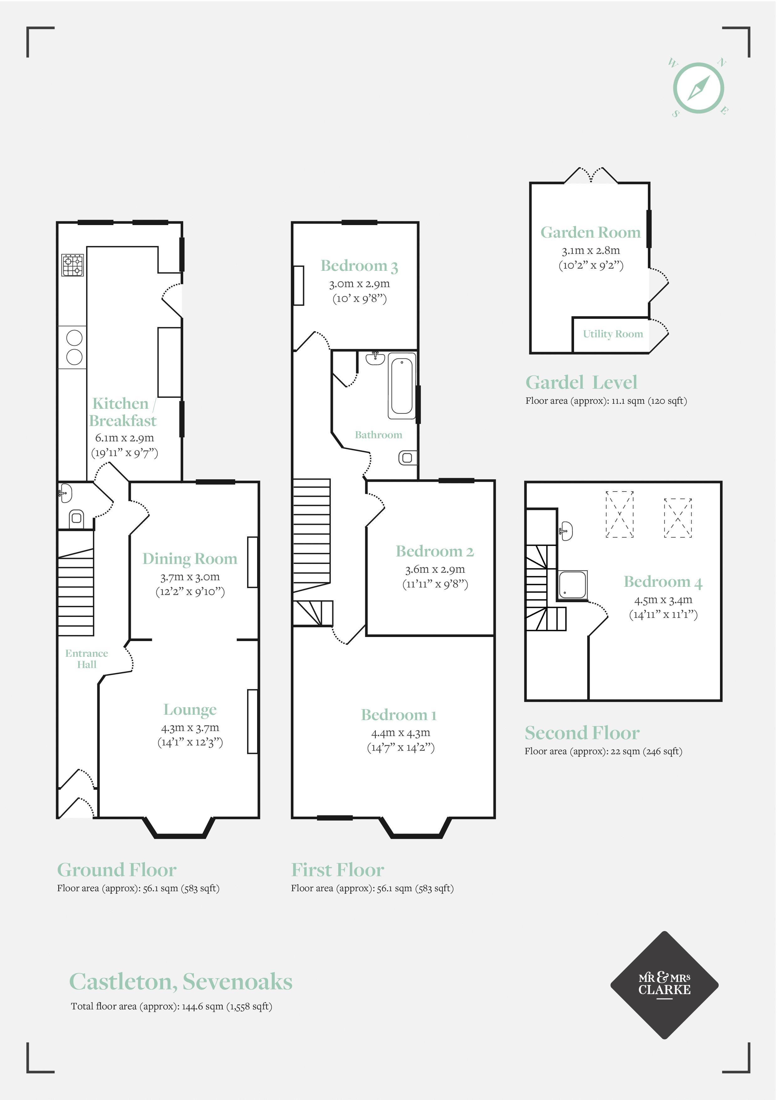 London Road, Sevenoaks. Floorplan. Floor Plan.