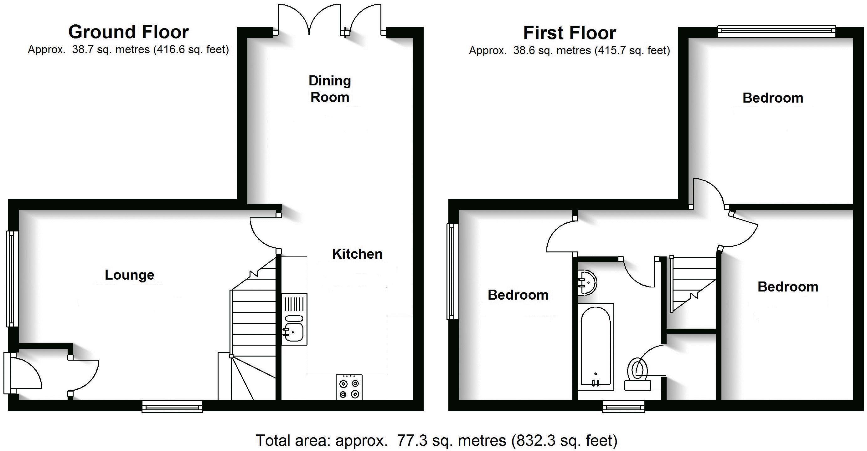 Yew Tree Close, Lapworth. Floorplan. 30 Yew Tree Close Floorplan.