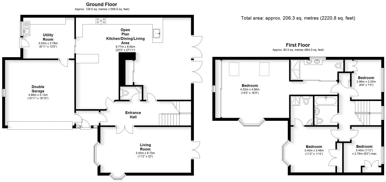 St James Meadow Road, Leamington Spa. Floorplan. .