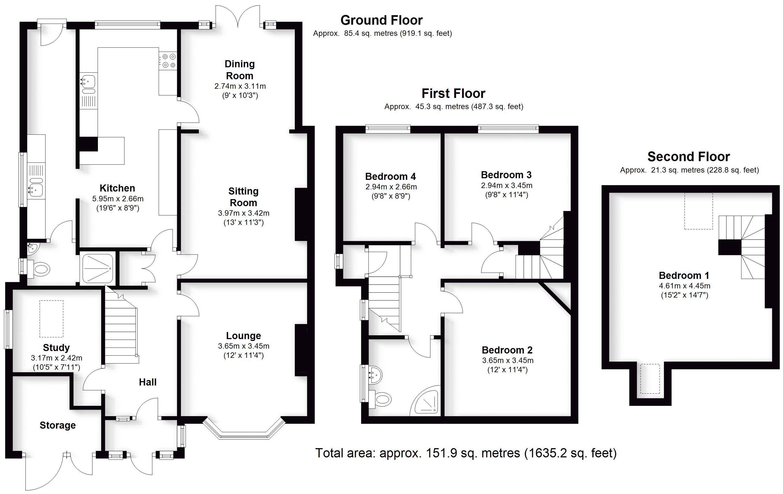 Foxbank, Melford Hall Road, Solihull. Floorplan. Melford Hall Road Floorplan.