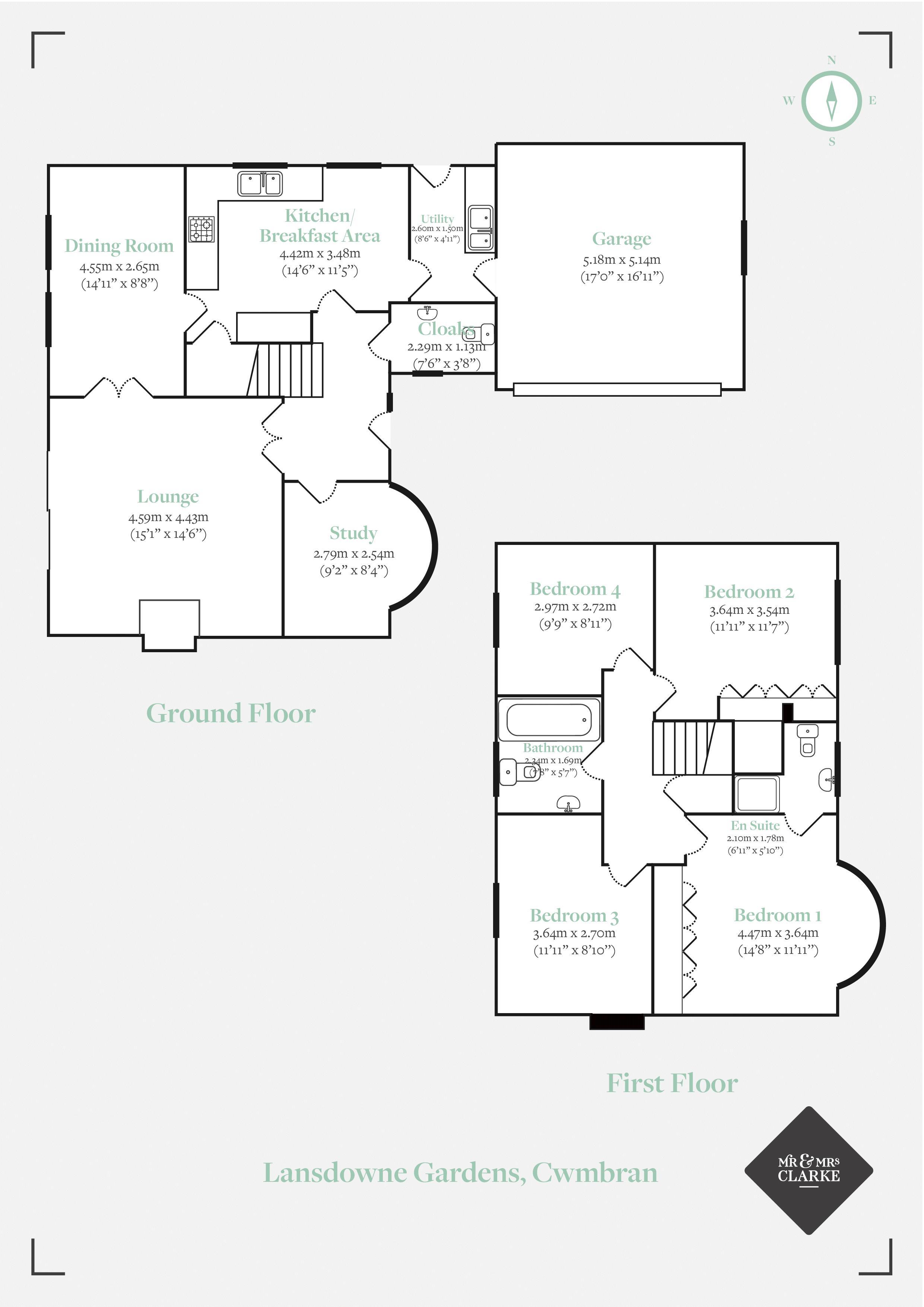 Lansdowne Gardens, Cwmbran. Floorplan. Floor Plan.