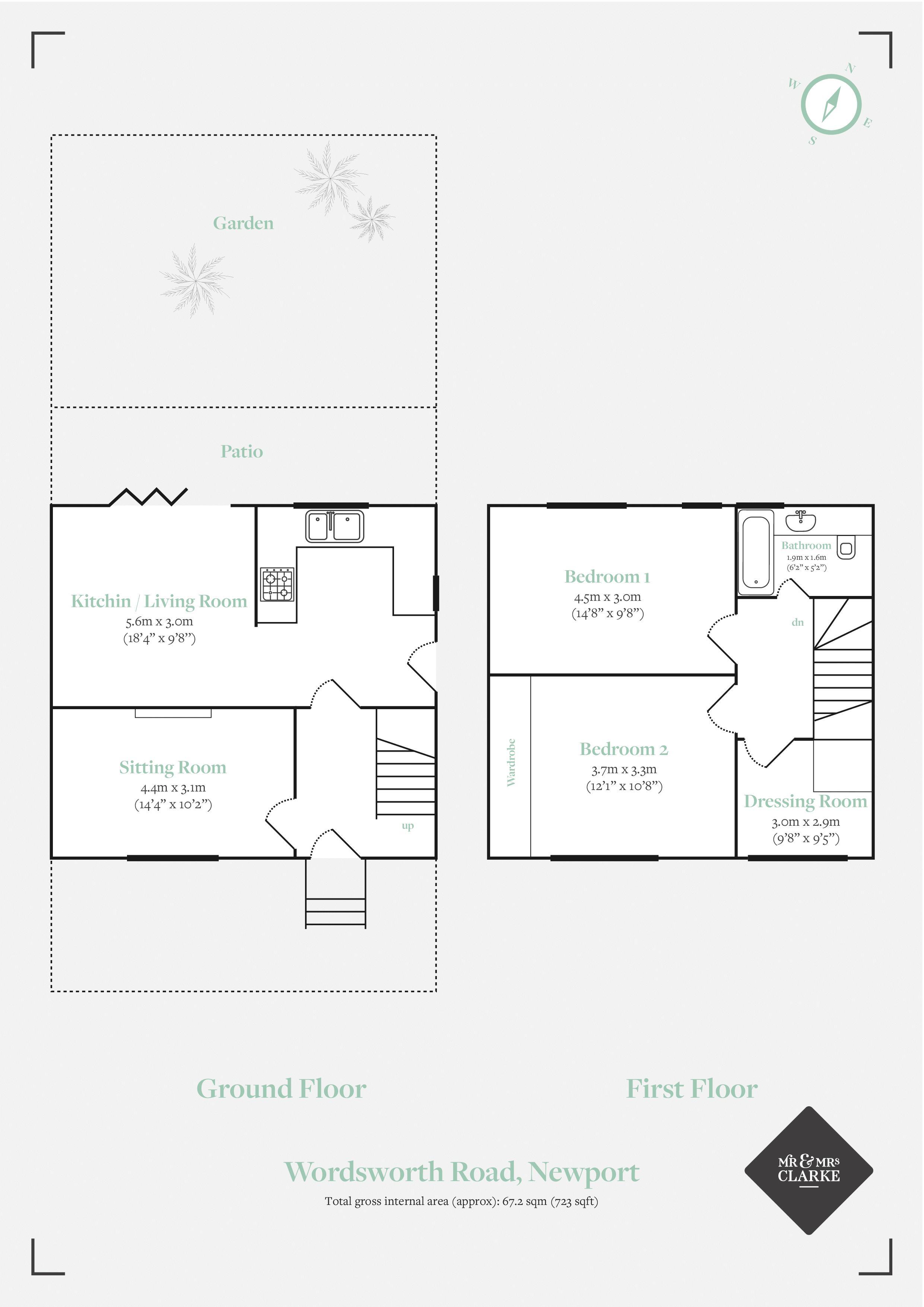 Wordsworth Road, Newport. Floorplan. Floor Plan.