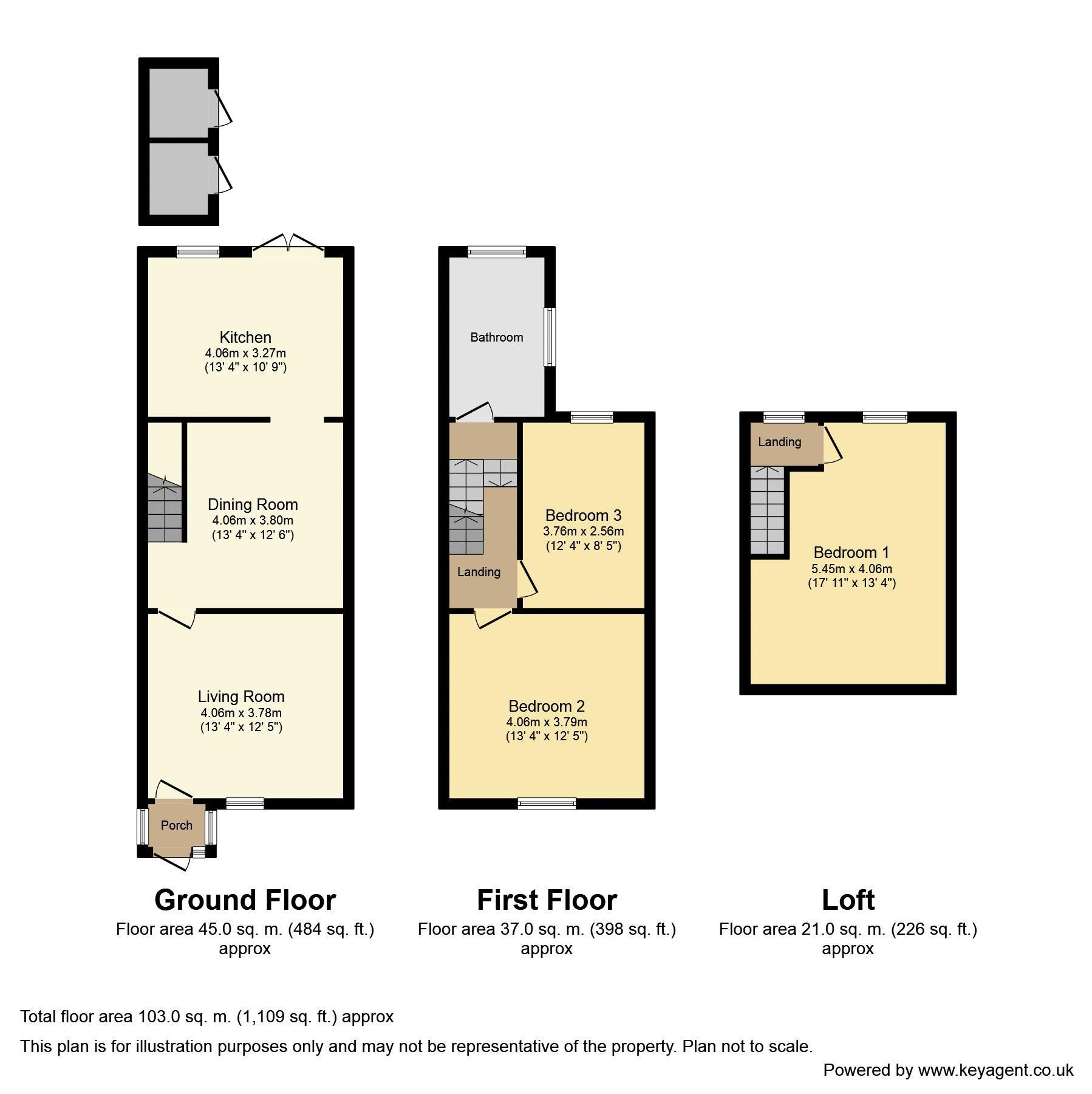 Priory Cottage. Lapworth. Floorplan. Floorplan - 2 Priory Cottages, Rising Lane.