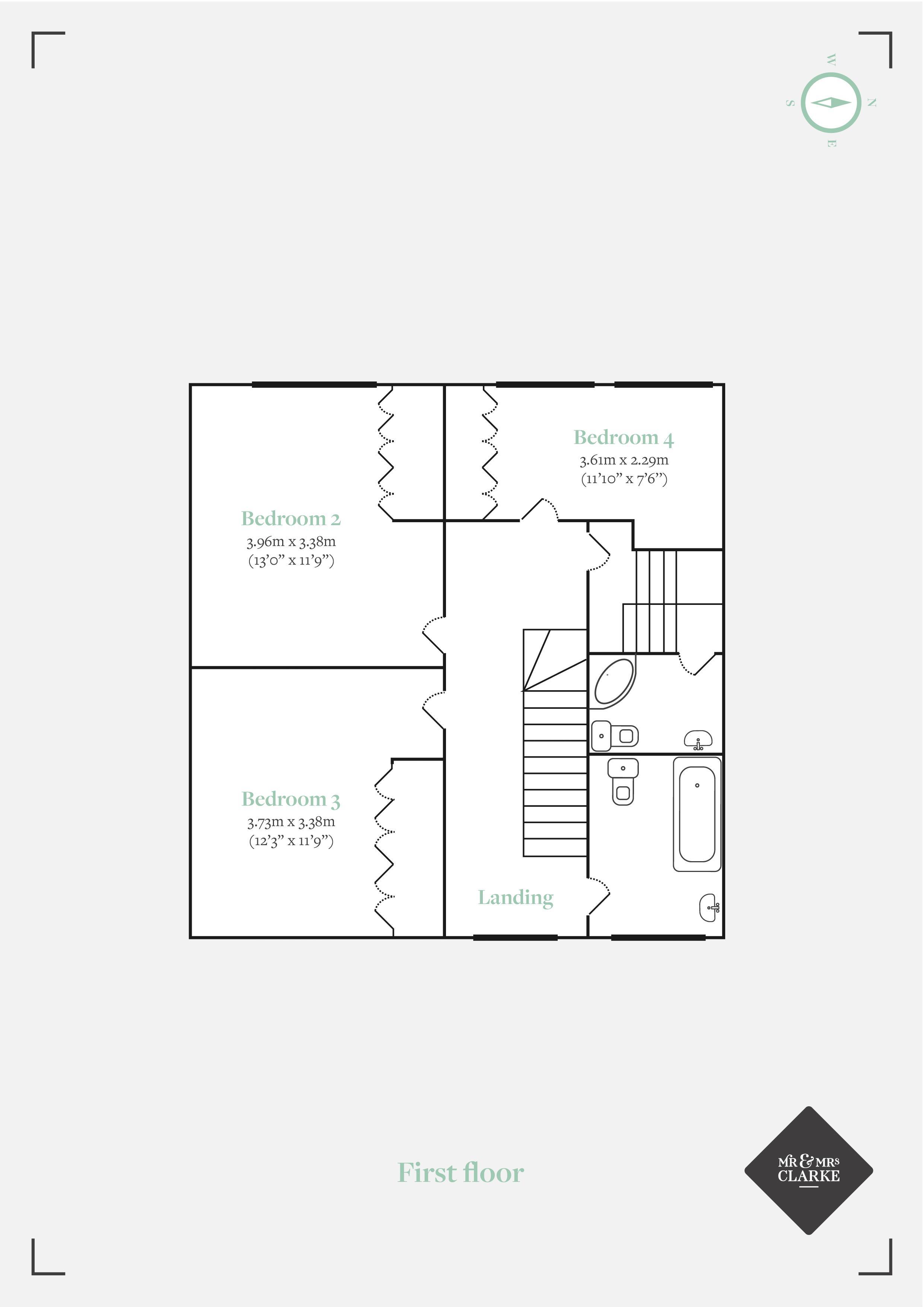 Gordons Way, Oxted. Floorplan. .