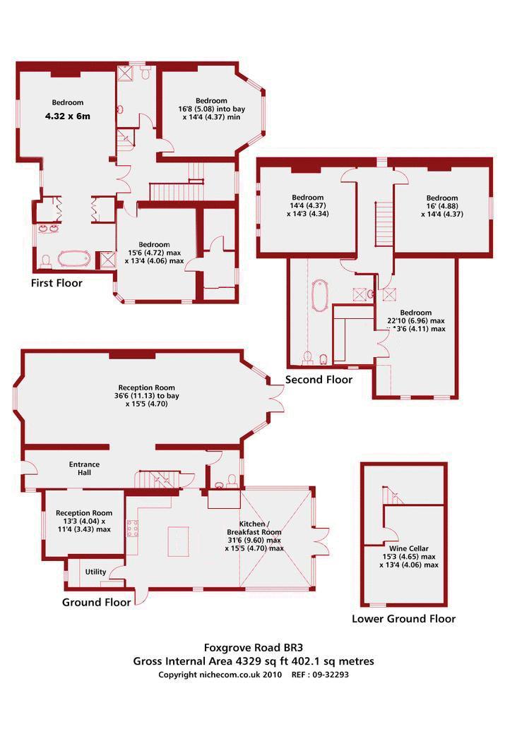 Foxgrove House, Warwickshire. Floorplan. The Clarke's House Floor Plan.