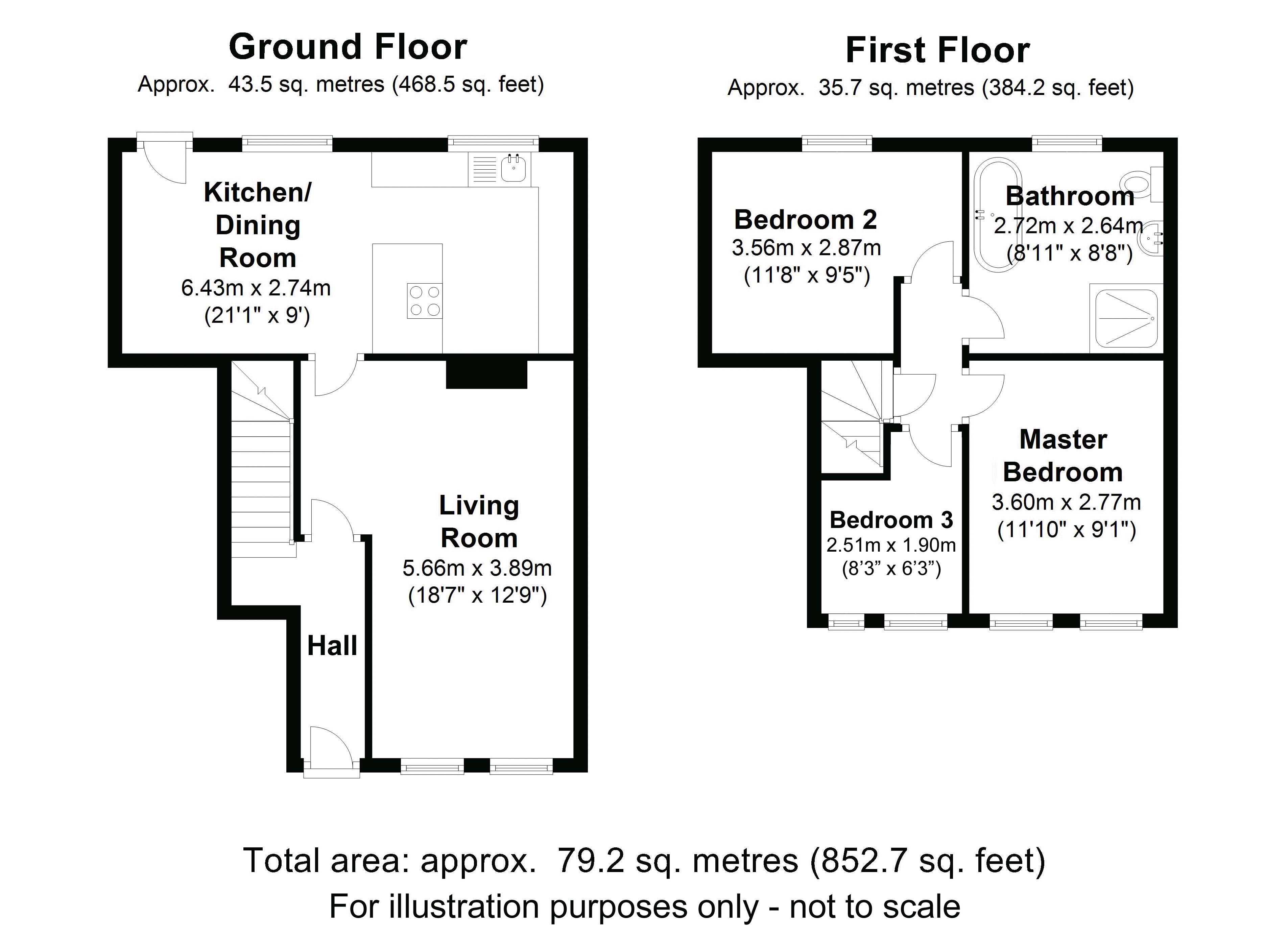 The Retreat, Snitterfield. Floorplan. .