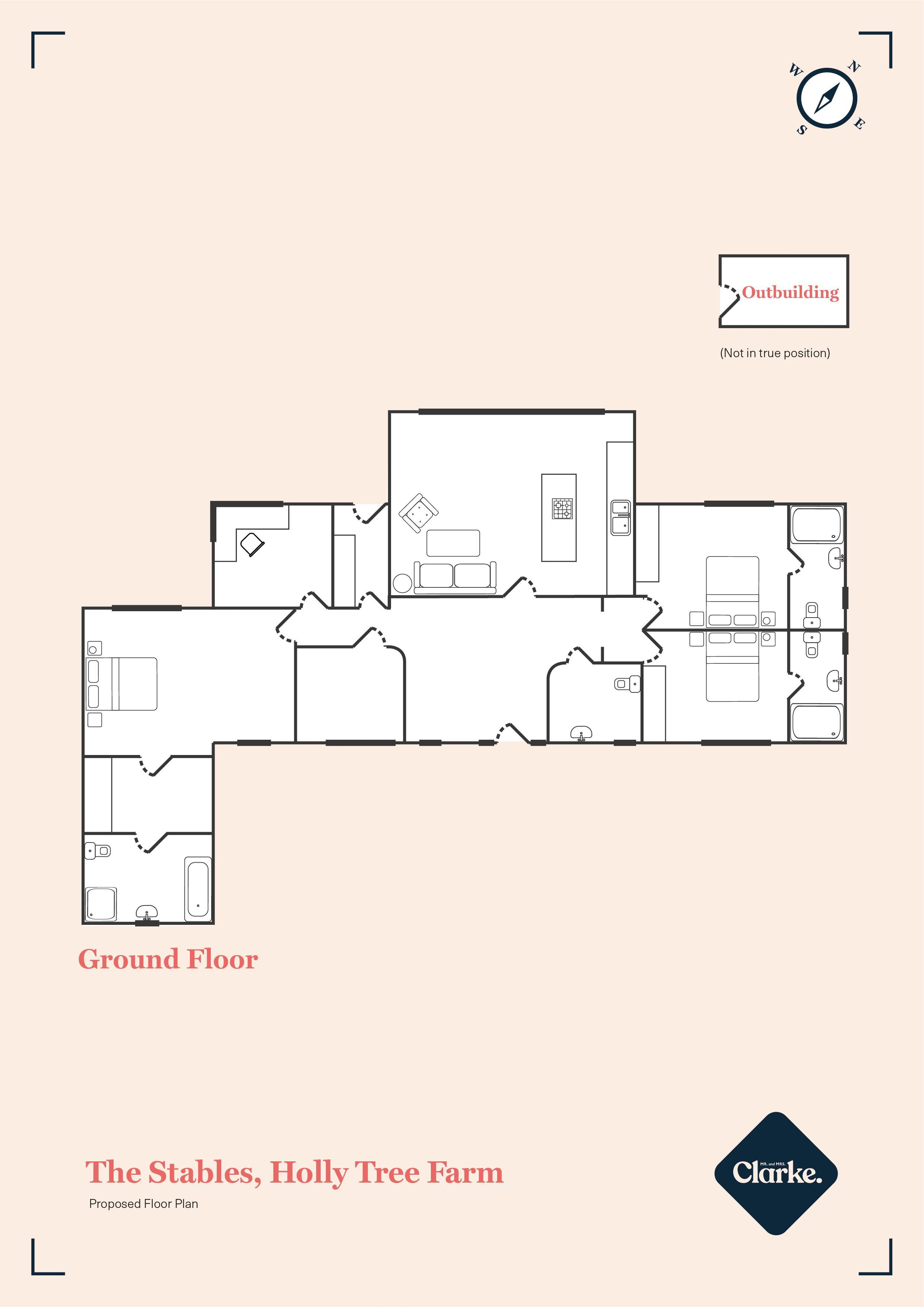 The Stables, Holly Tree Farm. Floorplan. Floor Plan.
