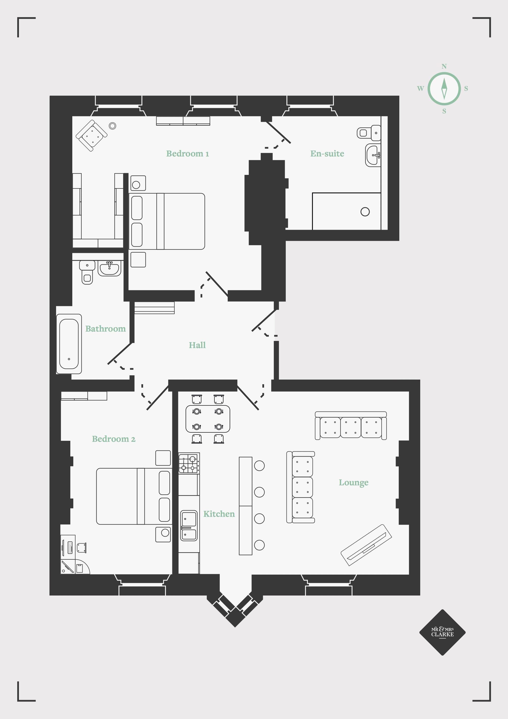 Royal Sutton Place, Sutton Coldfield. Floorplan. .