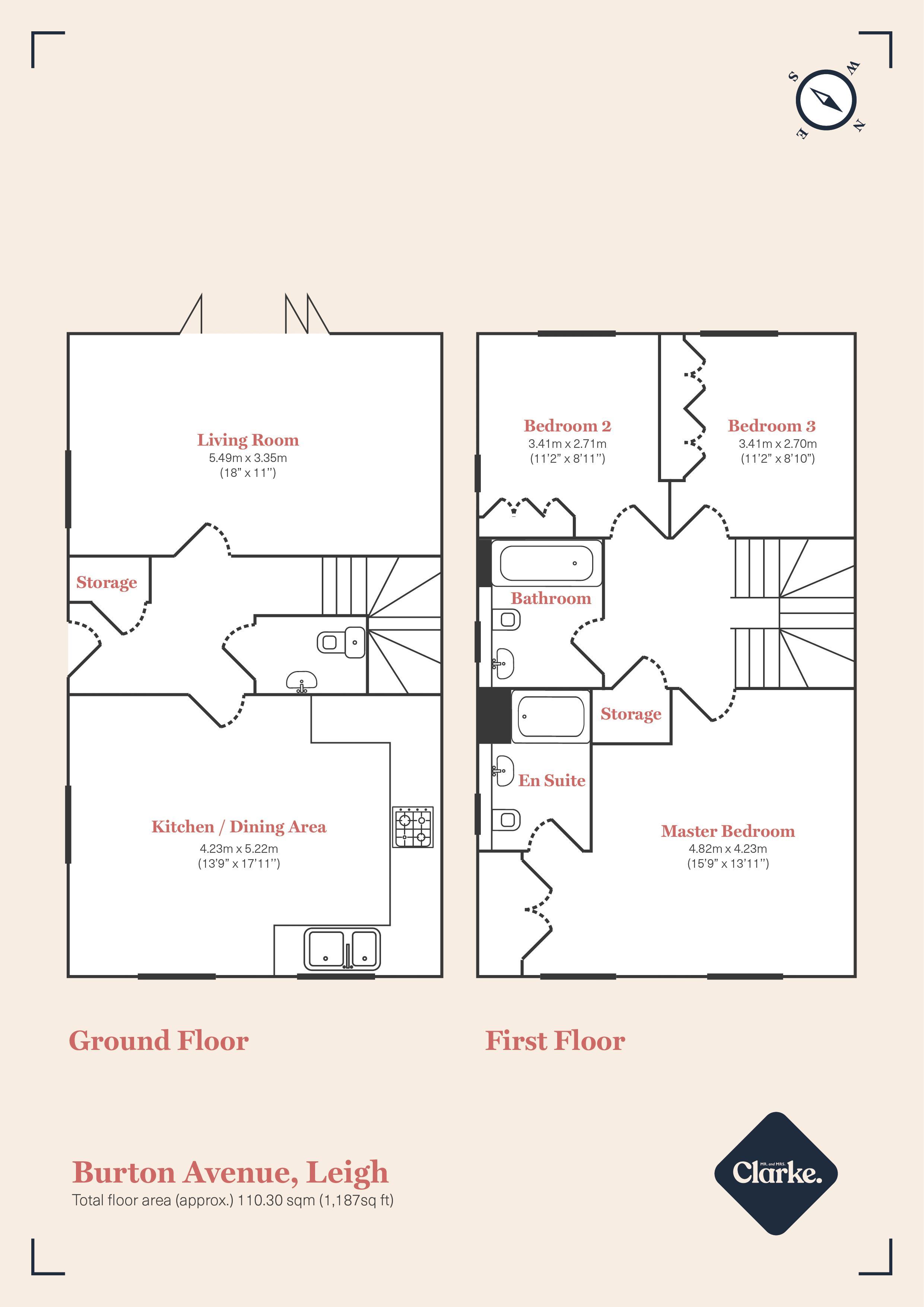 Burton Avenue, Tonbridge. Floorplan. Floor Plan.