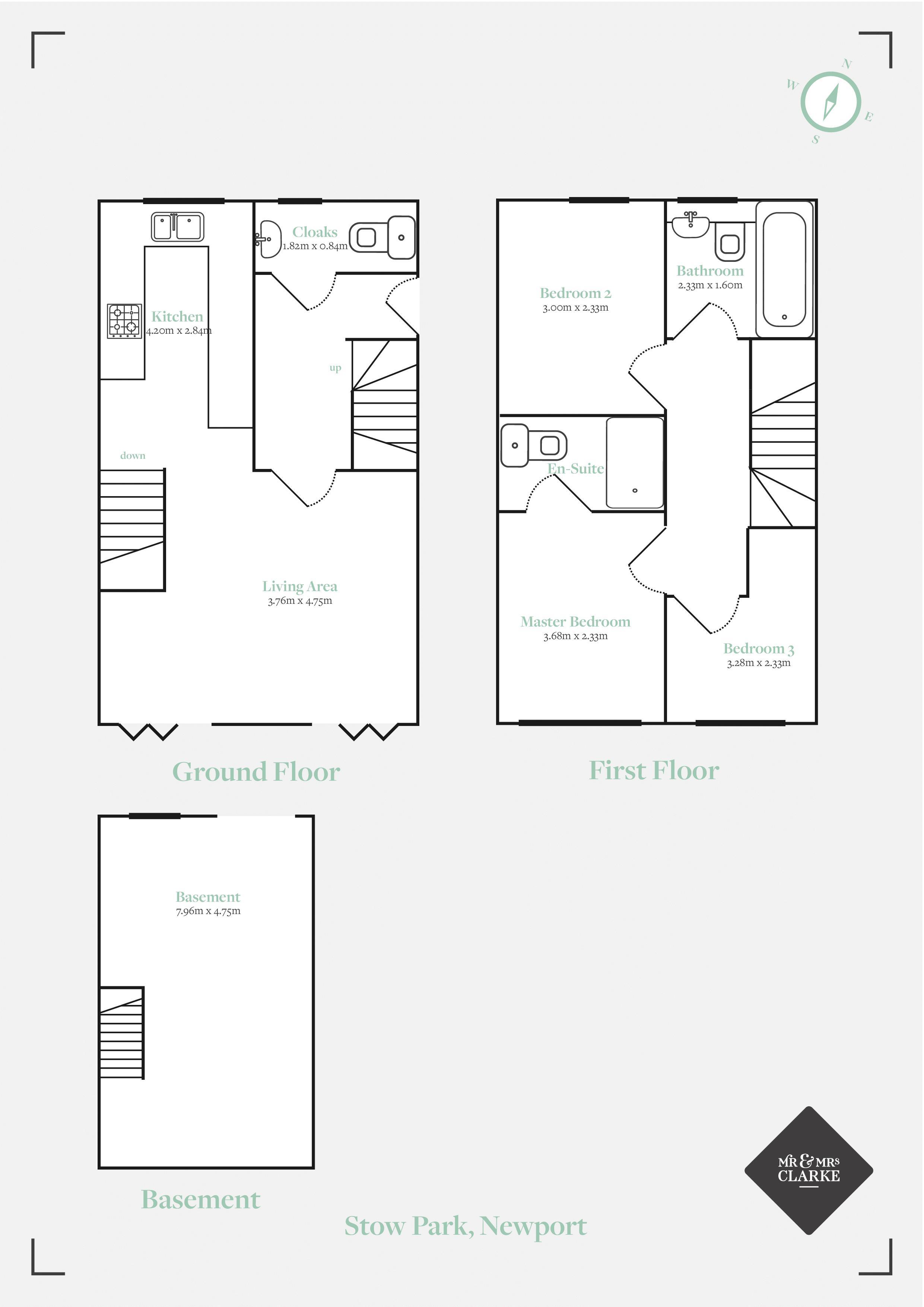 Stow Park Drive, Newport. Floorplan. Floor Plan.