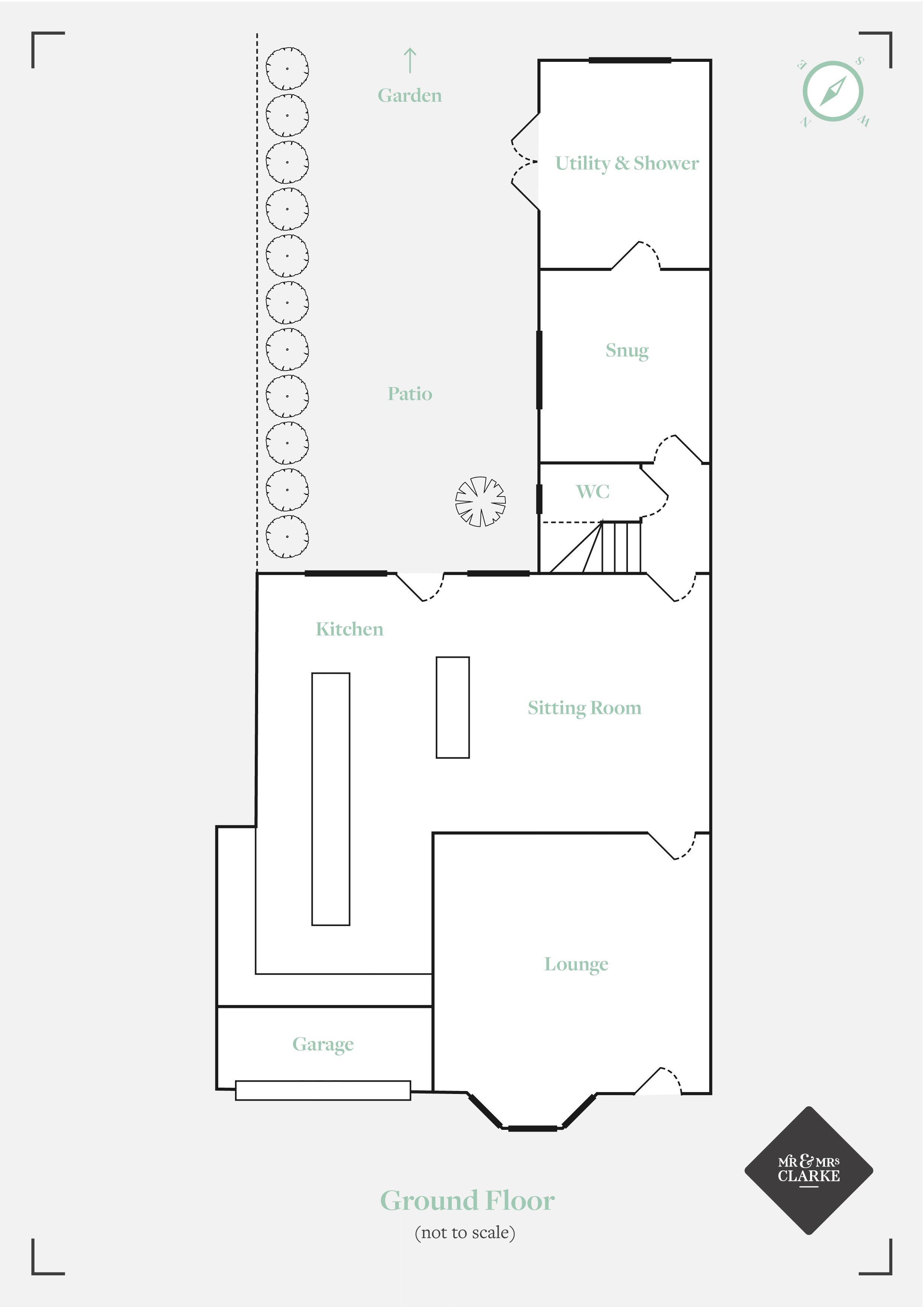 Tanworth Lane, Shirley Heath. Floorplan. Ground Floor Plan.