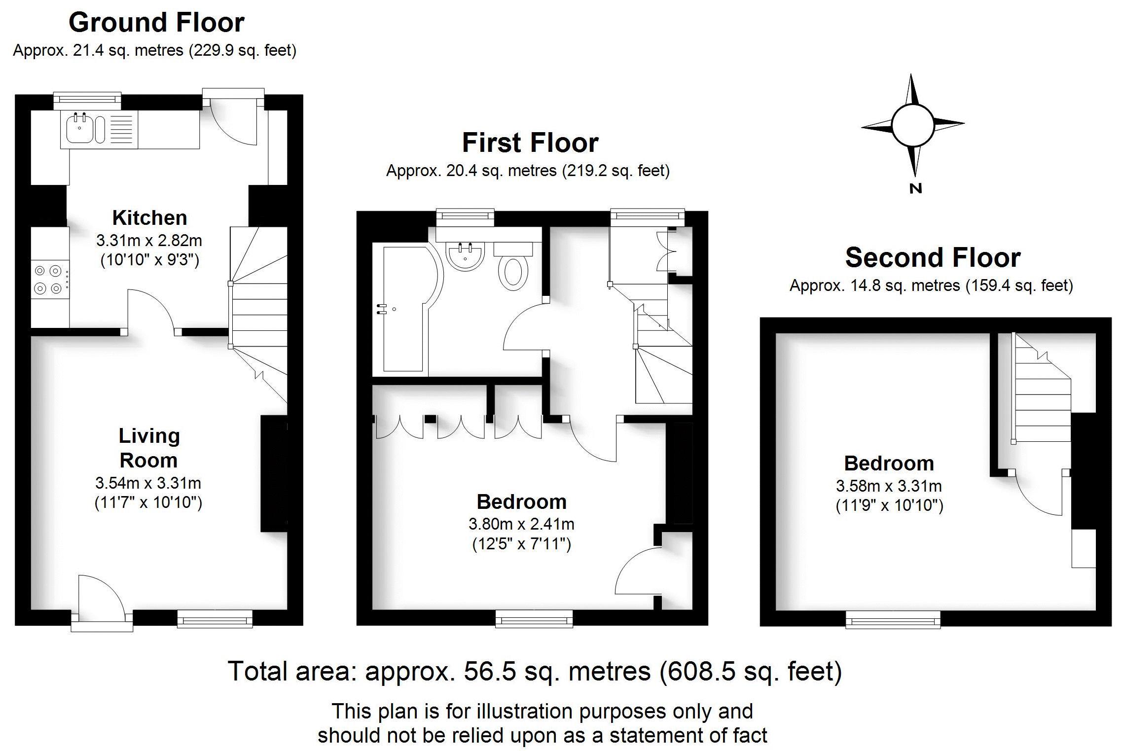 Church Street Cottage, Harbury. Floorplan. .