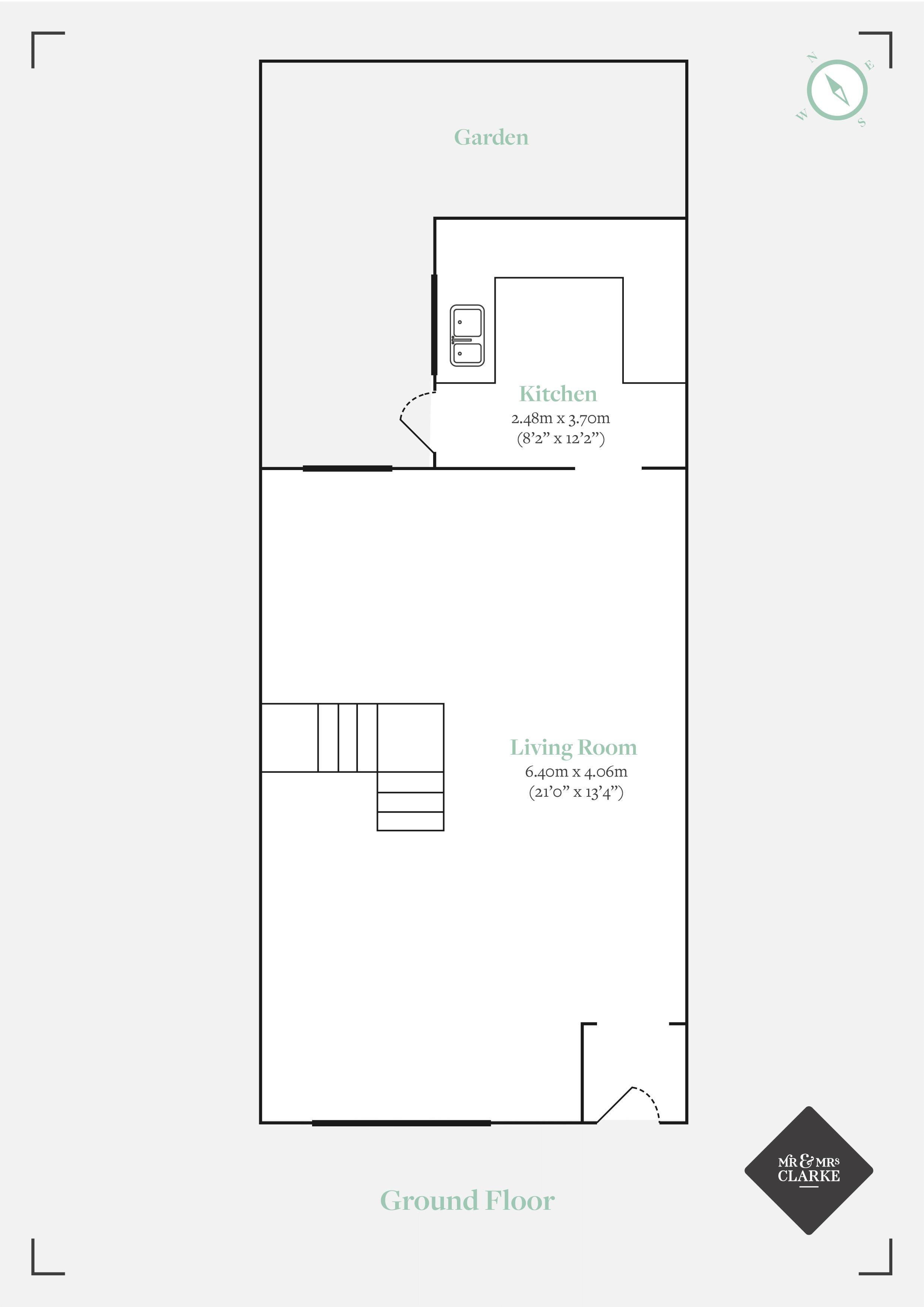 Fairoak Avenue, Newport. Floorplan. Ground Floor Plan.