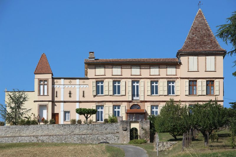 18th century chateau with stunning views